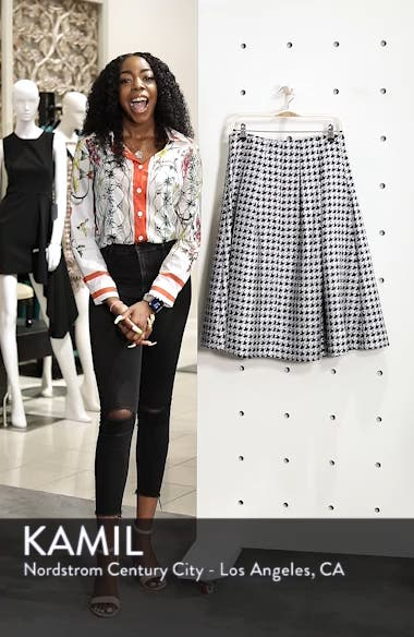 Houndstooth Pleated Skirt, sales video thumbnail