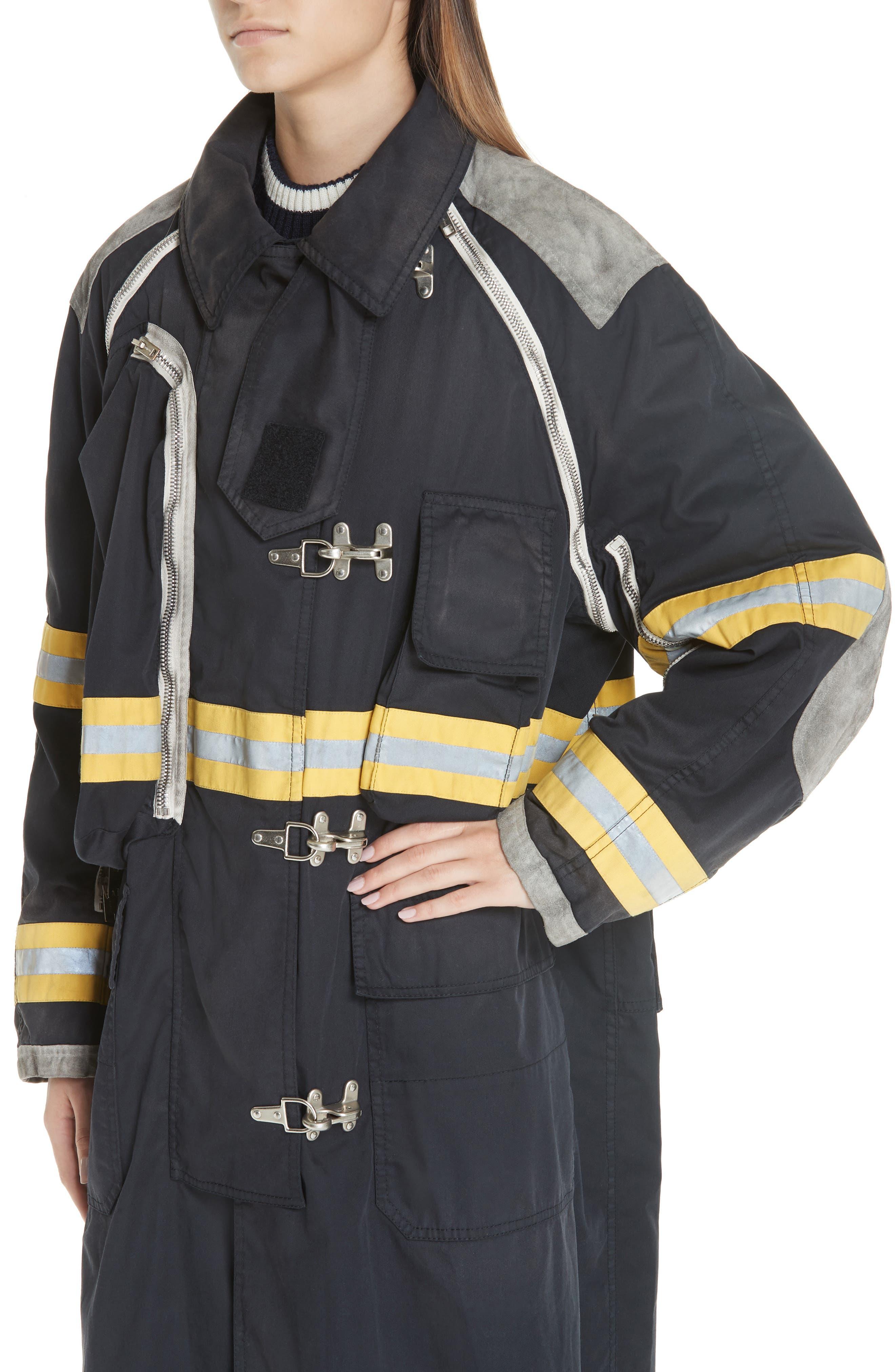 Fireman Coat,                             Alternate thumbnail 4, color,                             BLACK