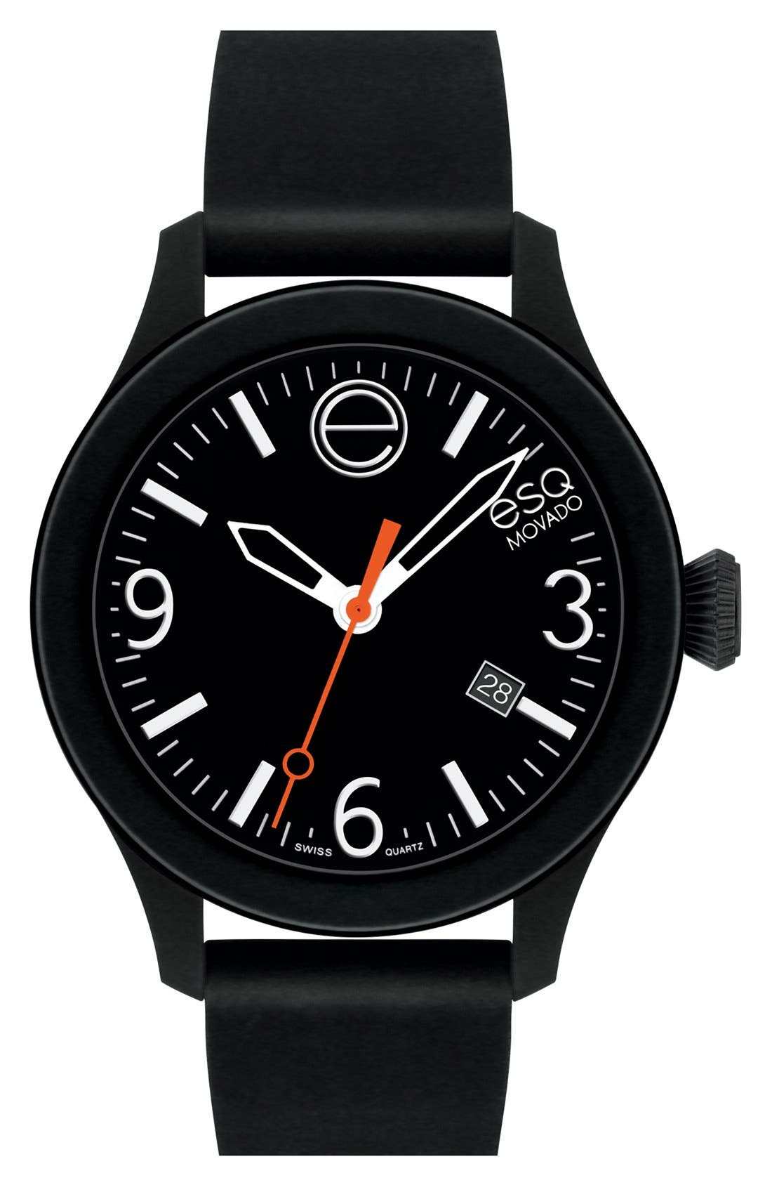 'One' Silicone Strap Watch, 42mm,                             Main thumbnail 1, color,                             001