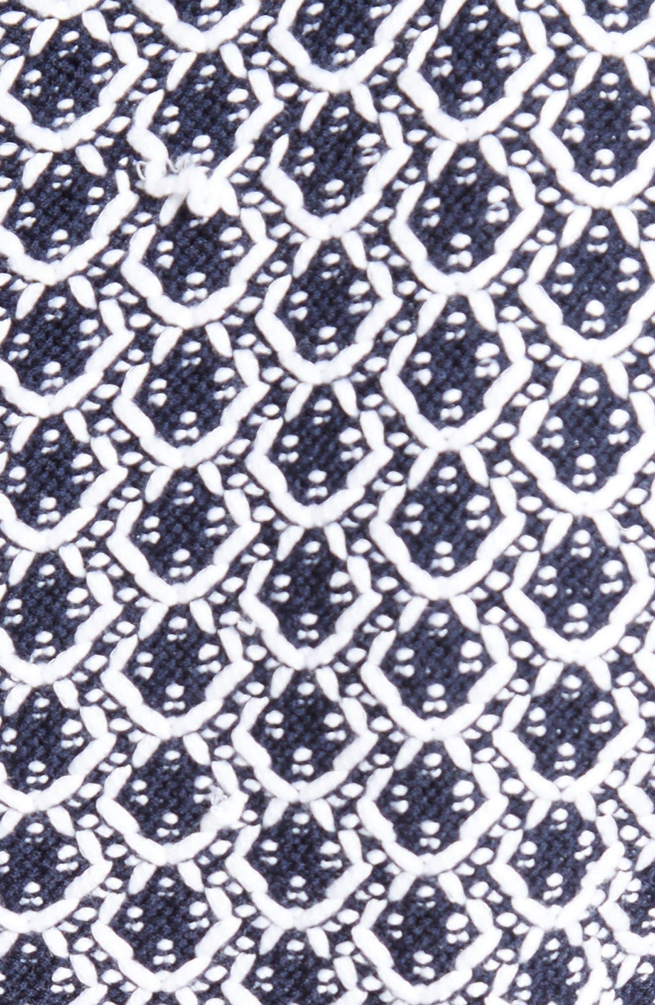 Aadi Tweed Knit Dress,                             Alternate thumbnail 6, color,                             400