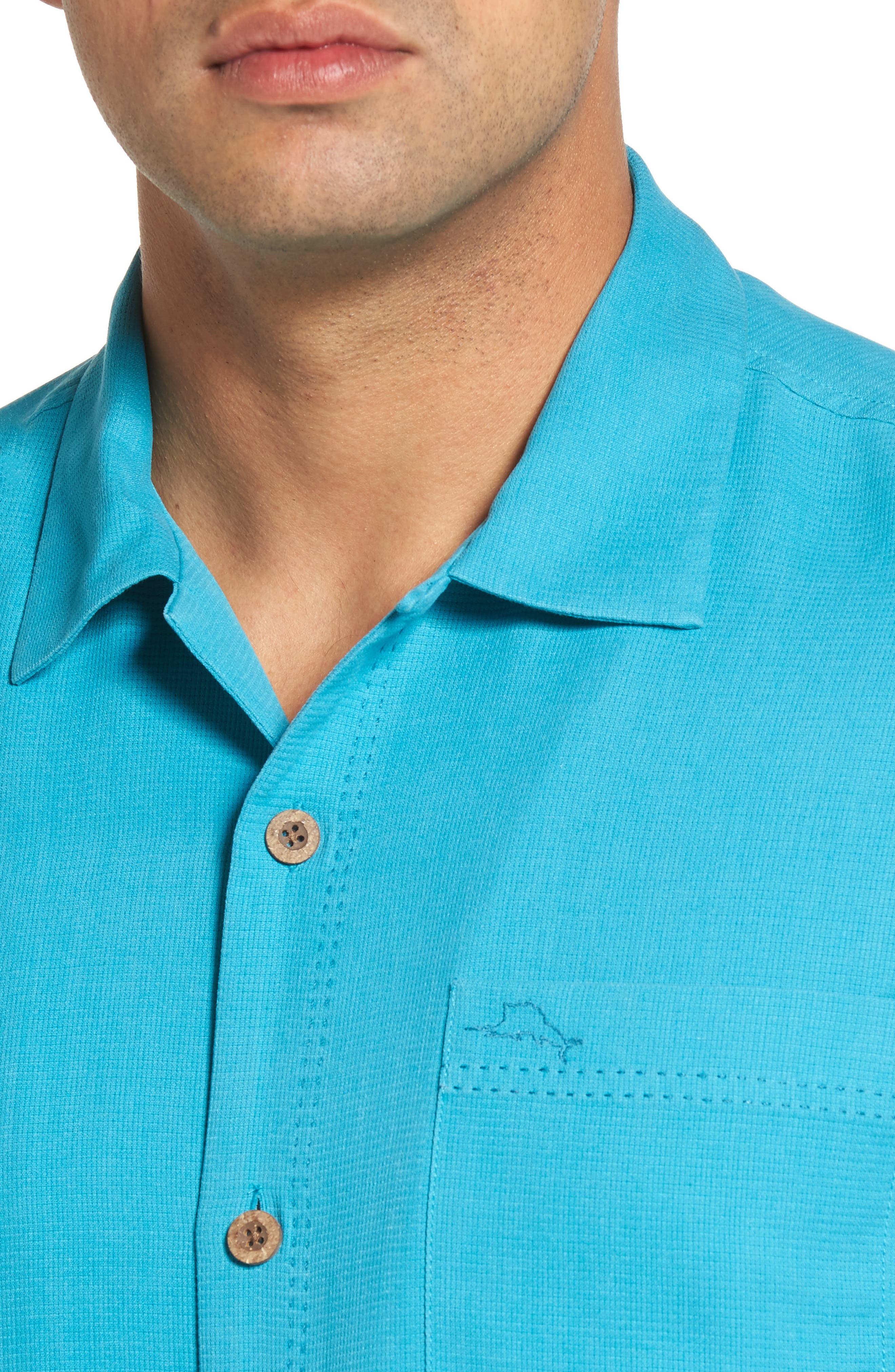 Royal Bermuda Silk Blend Camp Shirt,                             Alternate thumbnail 4, color,                             404