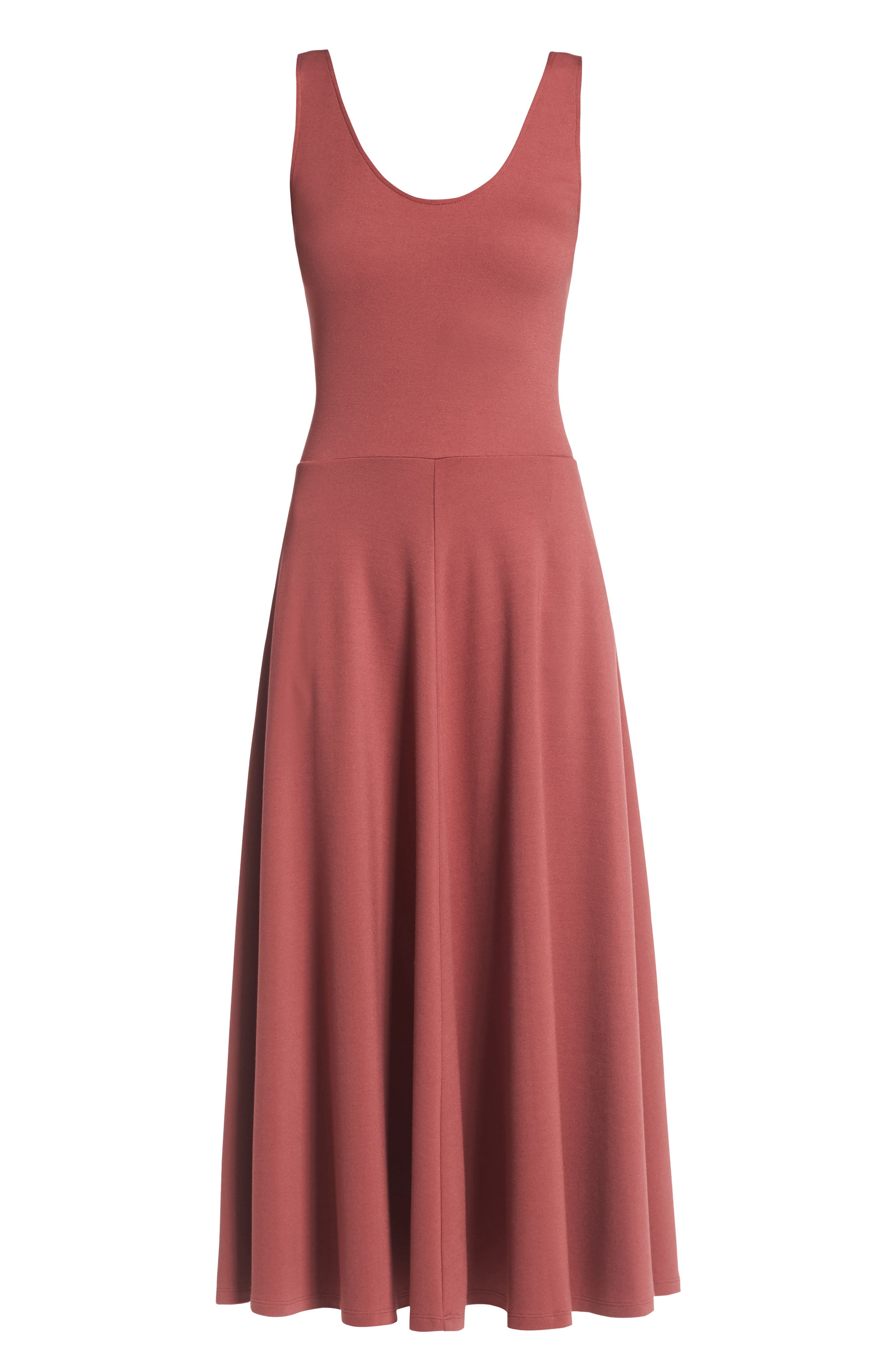 Stretch Knit Midi Dress,                             Alternate thumbnail 62, color,