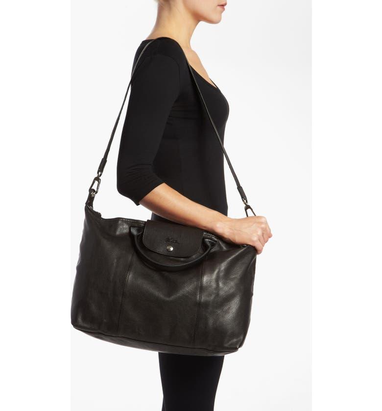 Longchamp  Le Pliage Cuir  Leather Handbag  8aaa7e41a83e1