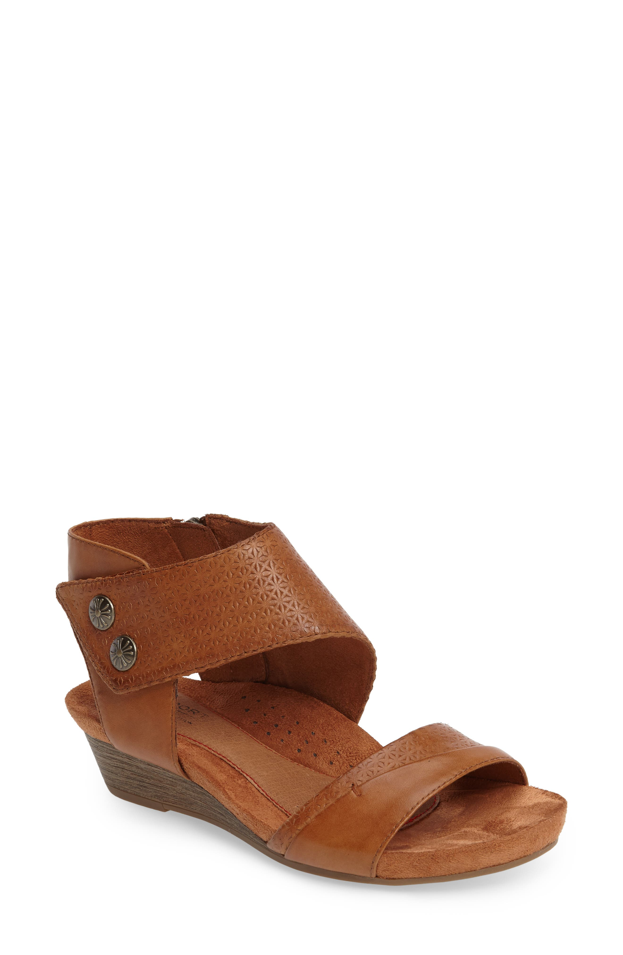 Hollywood Sandal,                         Main,                         color, TAN LEATHER