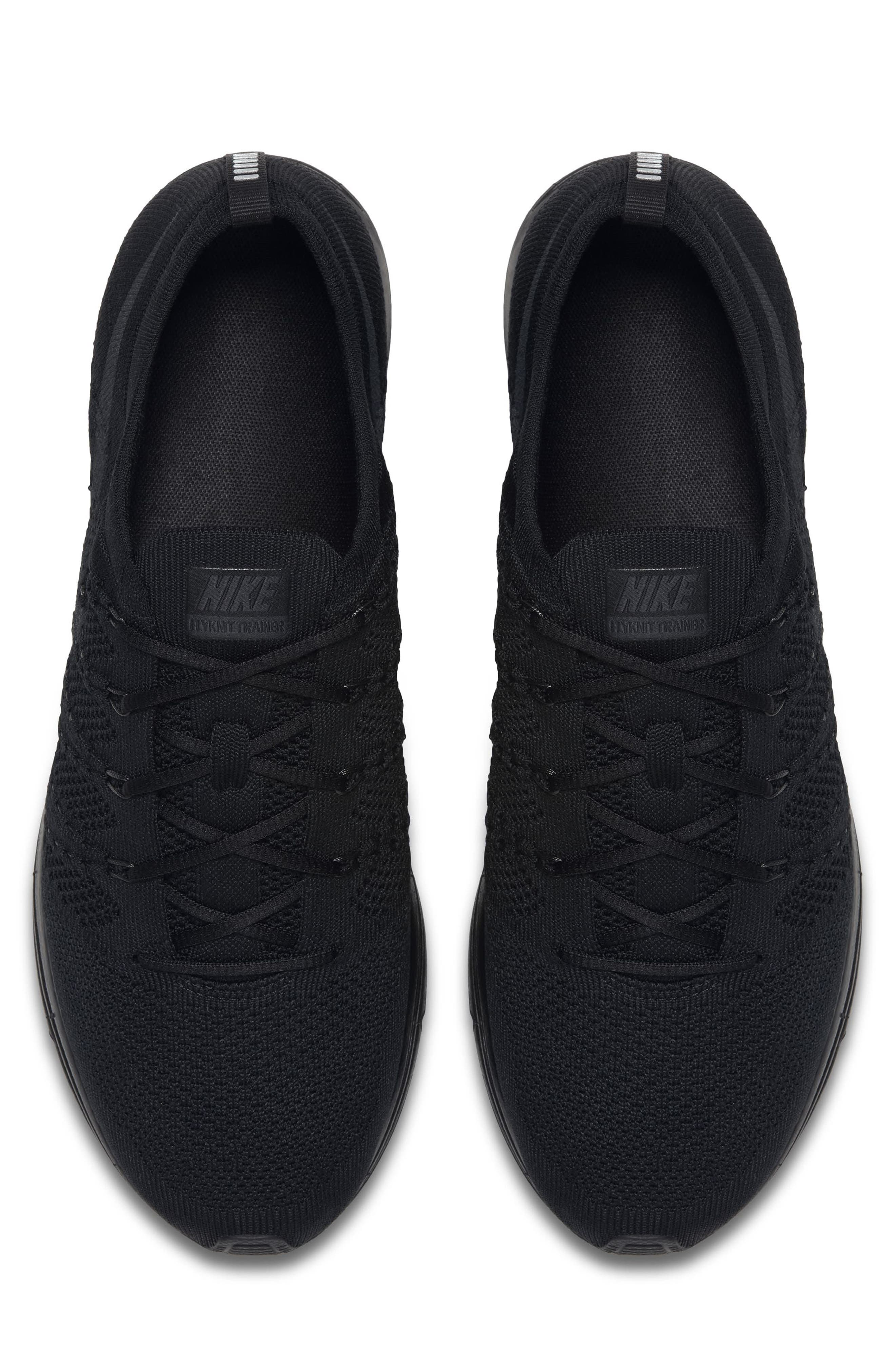 NIKE,                             Flyknit Trainer Sneaker,                             Alternate thumbnail 4, color,                             004