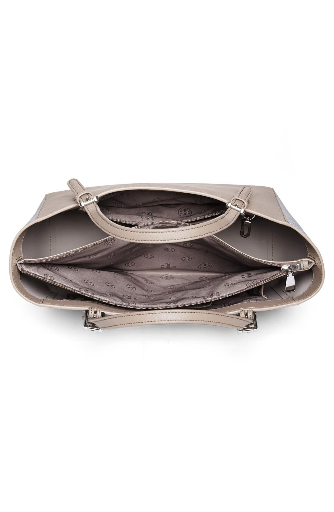 'Small York' Saffiano Leather Buckle Tote,                             Alternate thumbnail 54, color,