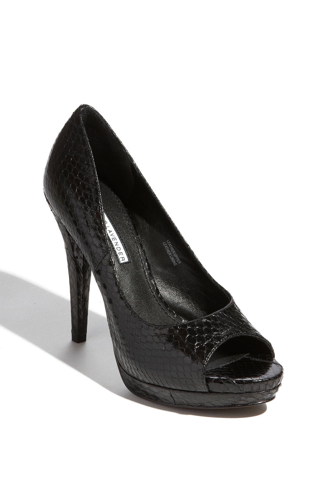 Footwear 'Selima' Peep Toe Pump,                             Main thumbnail 1, color,