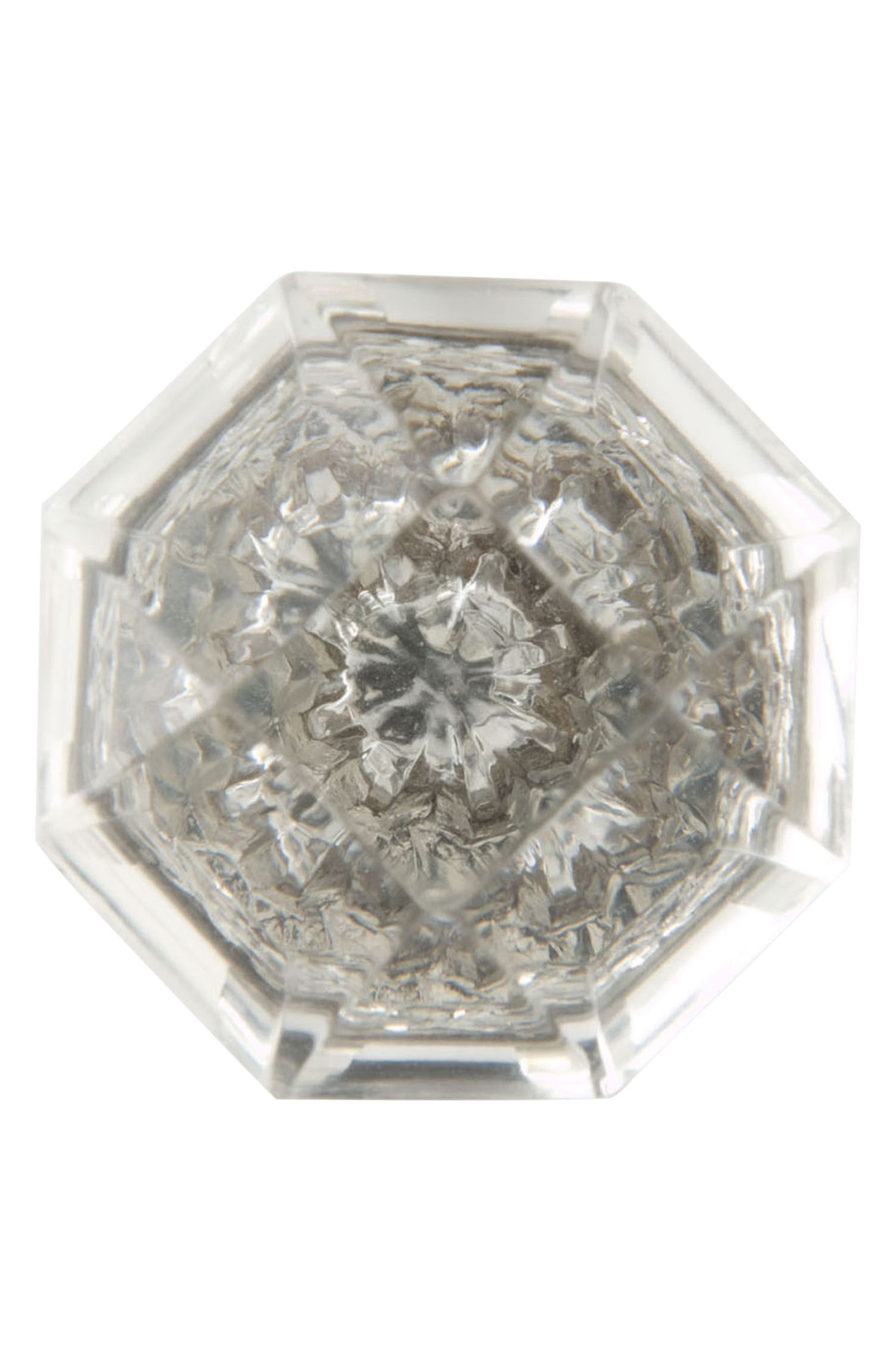 Crystal Octagon Knob,                             Alternate thumbnail 3, color,                             CLEAR