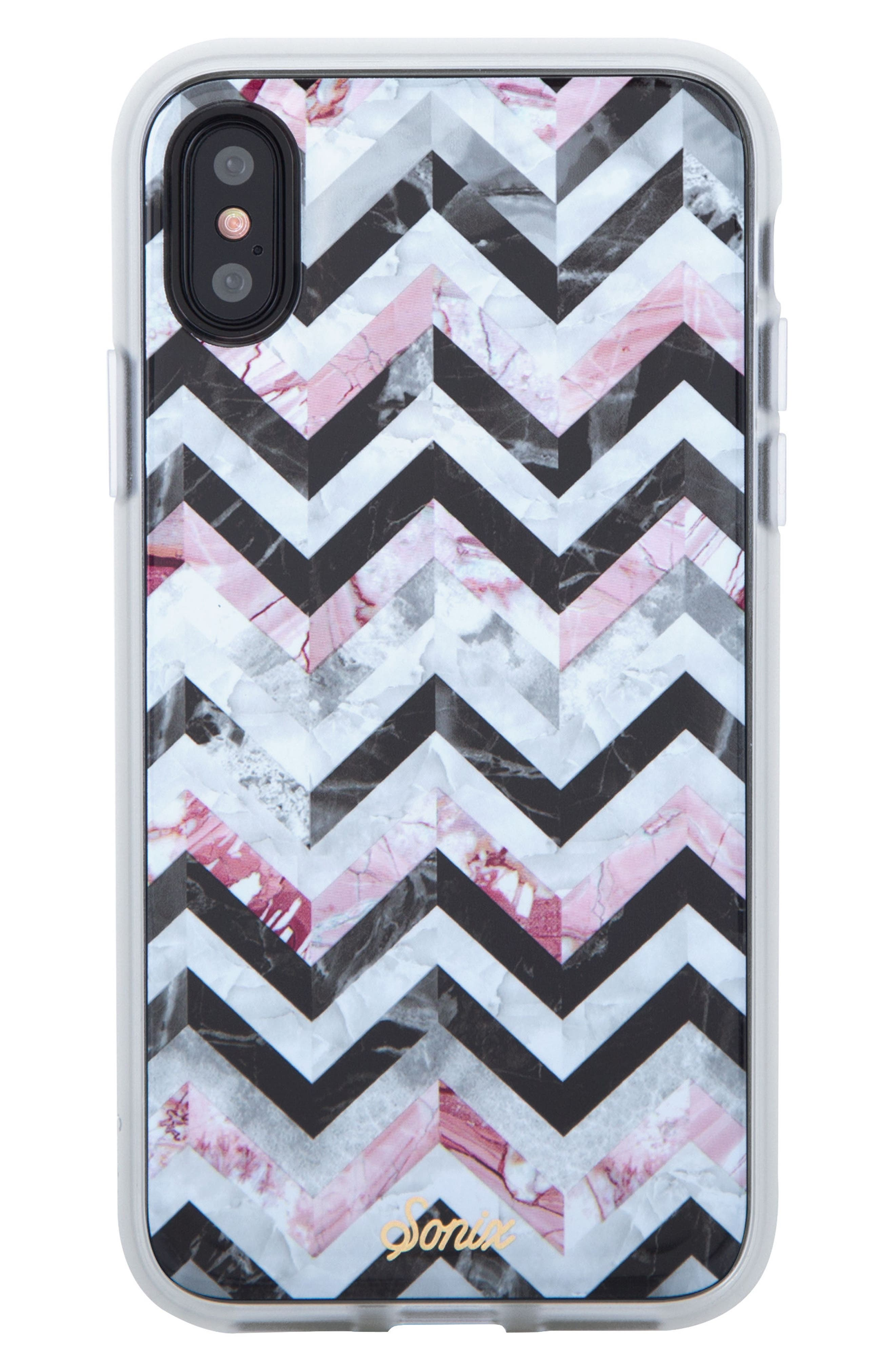 Sonic City Tile iPhone X & Xs Case,                         Main,                         color, BLACK/ MARBLE