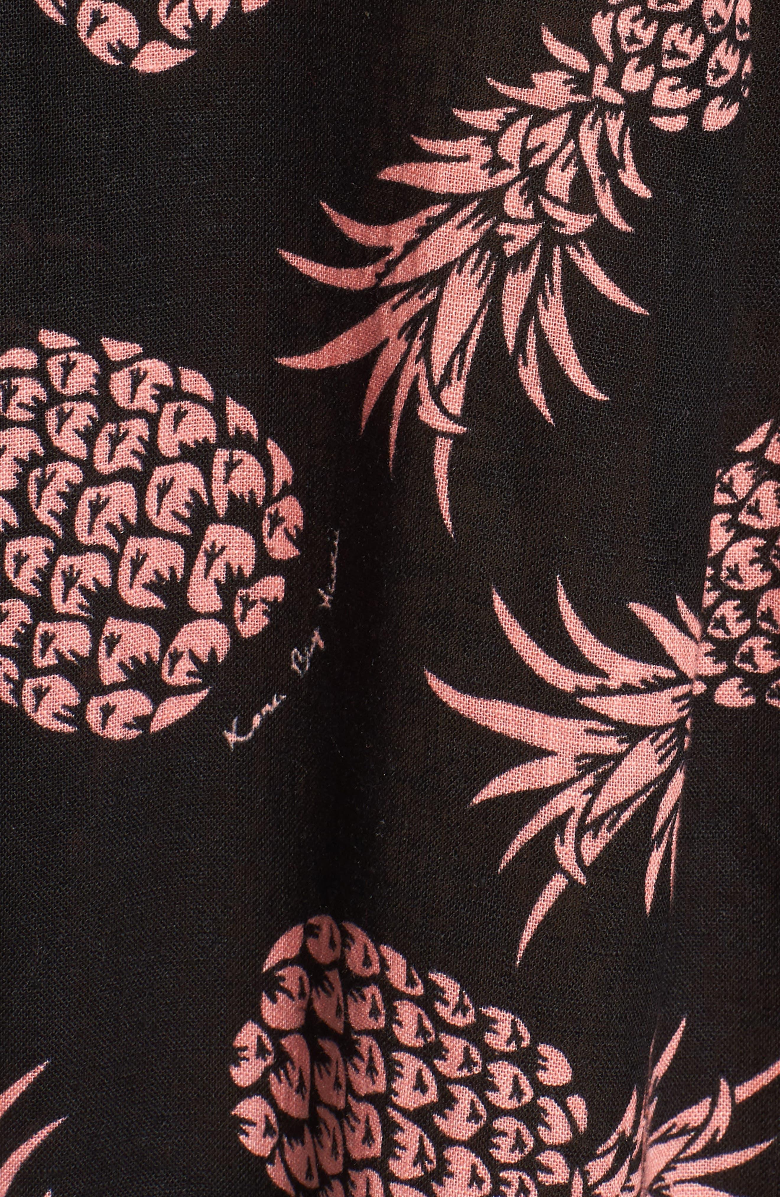 Whitney Pineapple Print Shirt,                             Alternate thumbnail 6, color,                             006