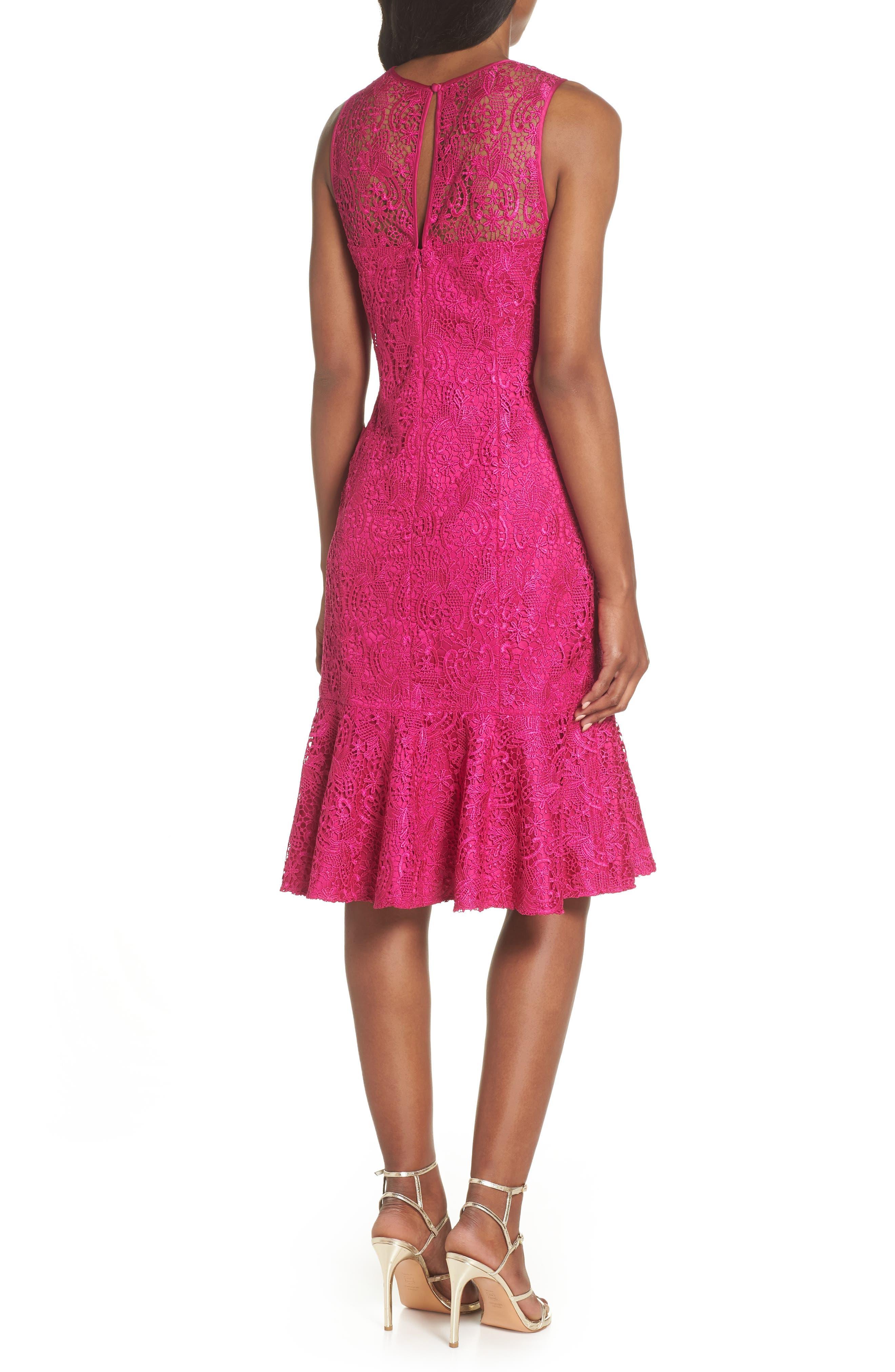 Sleeveless Lace Sheath Dress,                             Alternate thumbnail 2, color,                             660