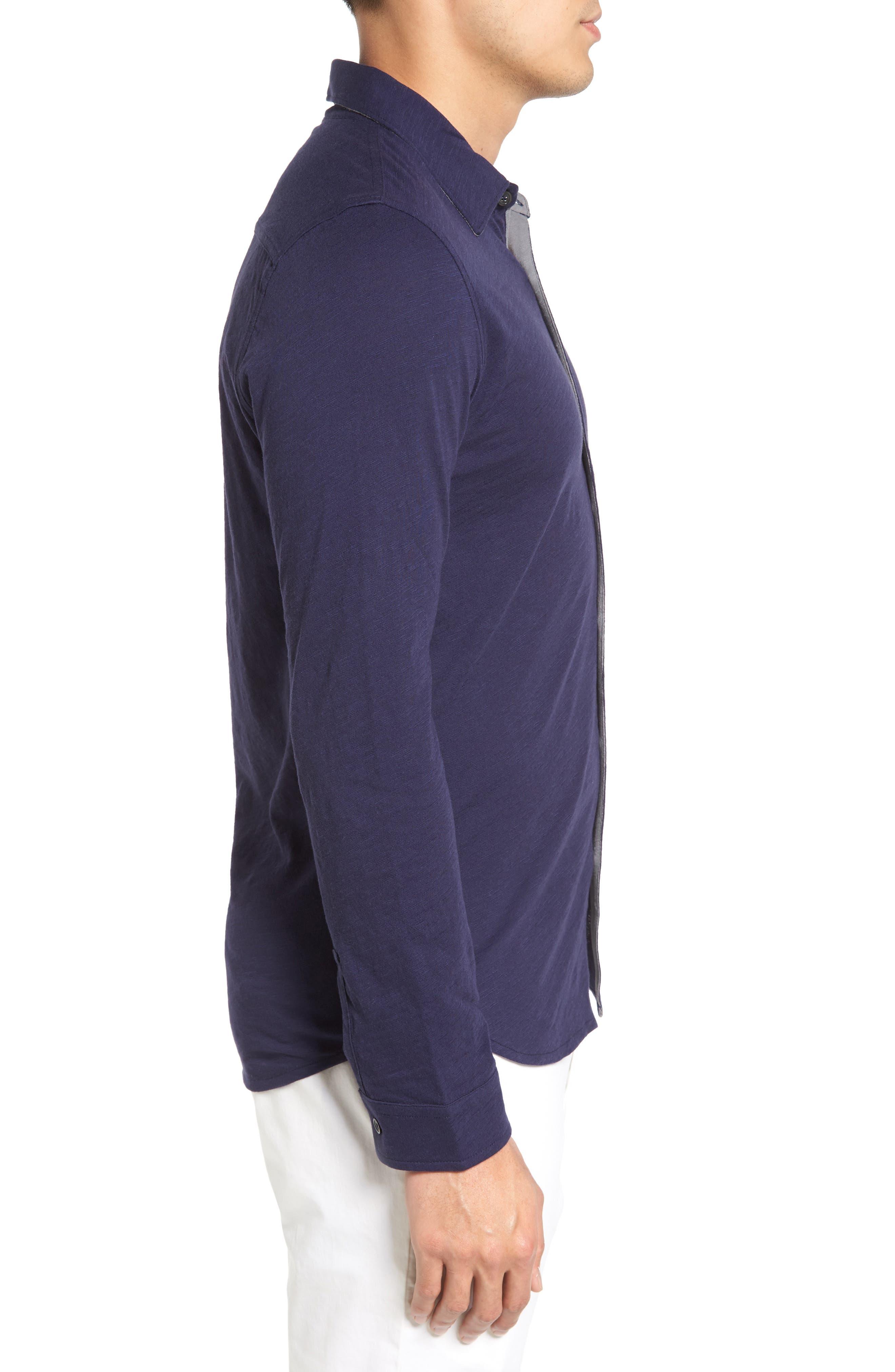 Camara Trim Fit Knit Sport Shirt,                             Alternate thumbnail 8, color,