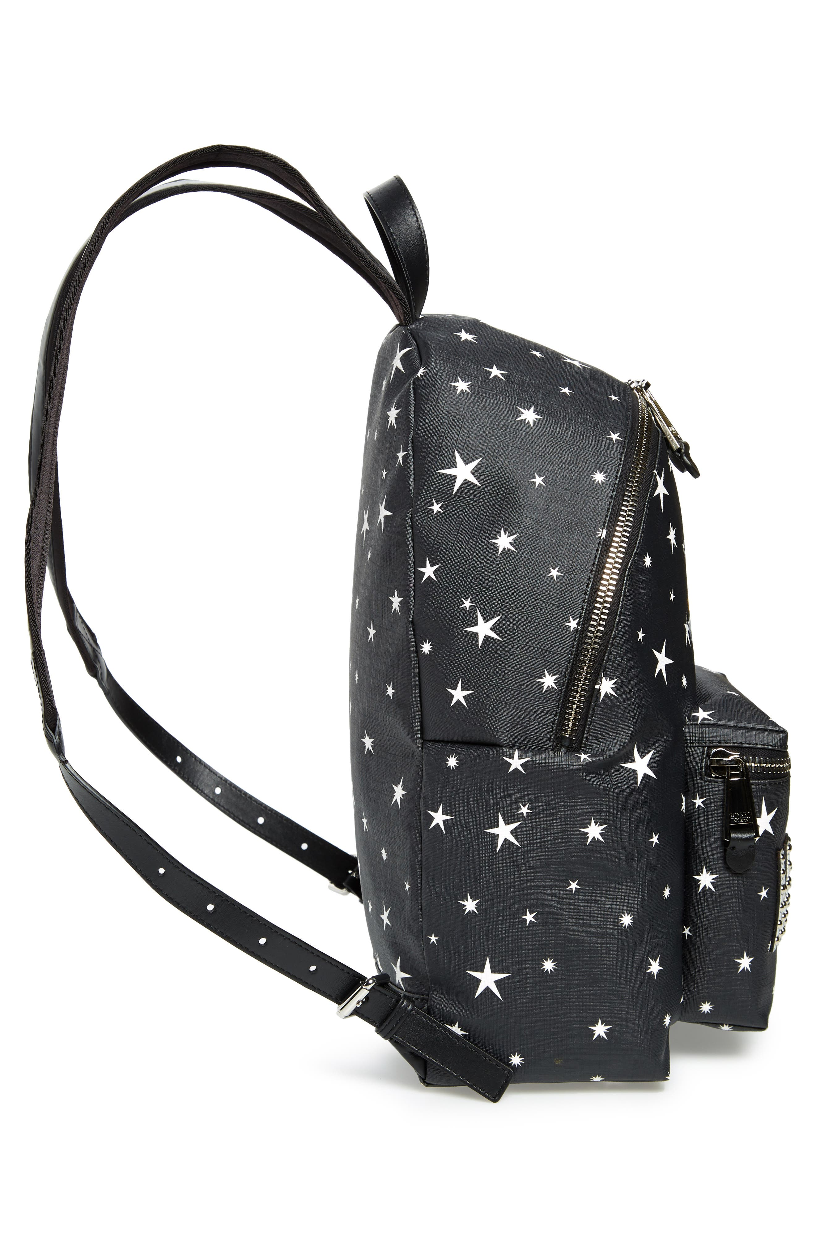 UFO Teddy Bear Faux Leather Backpack,                             Alternate thumbnail 5, color,                             001