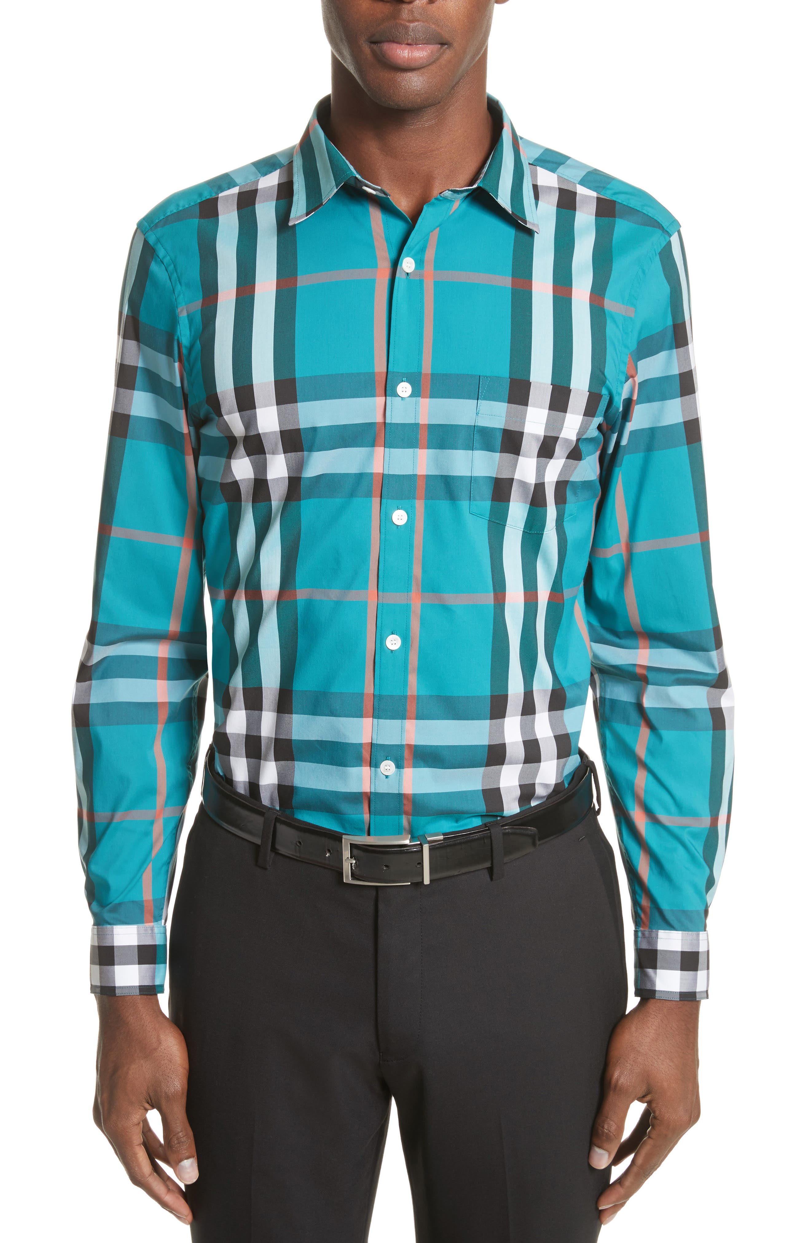 Nelson Check Sport Shirt,                             Main thumbnail 1, color,