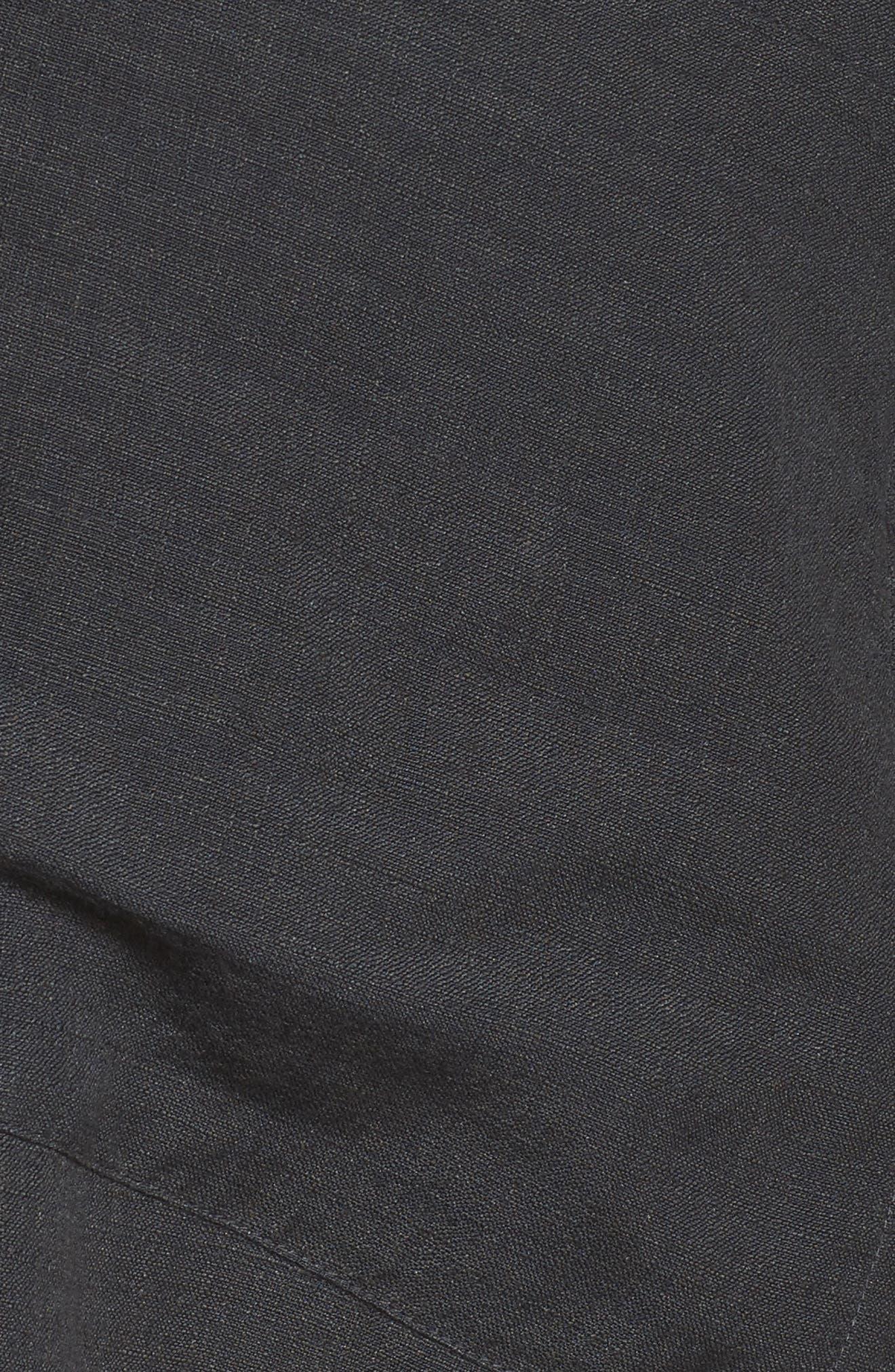 Woven Linen Blend Blouse,                             Alternate thumbnail 5, color,                             025