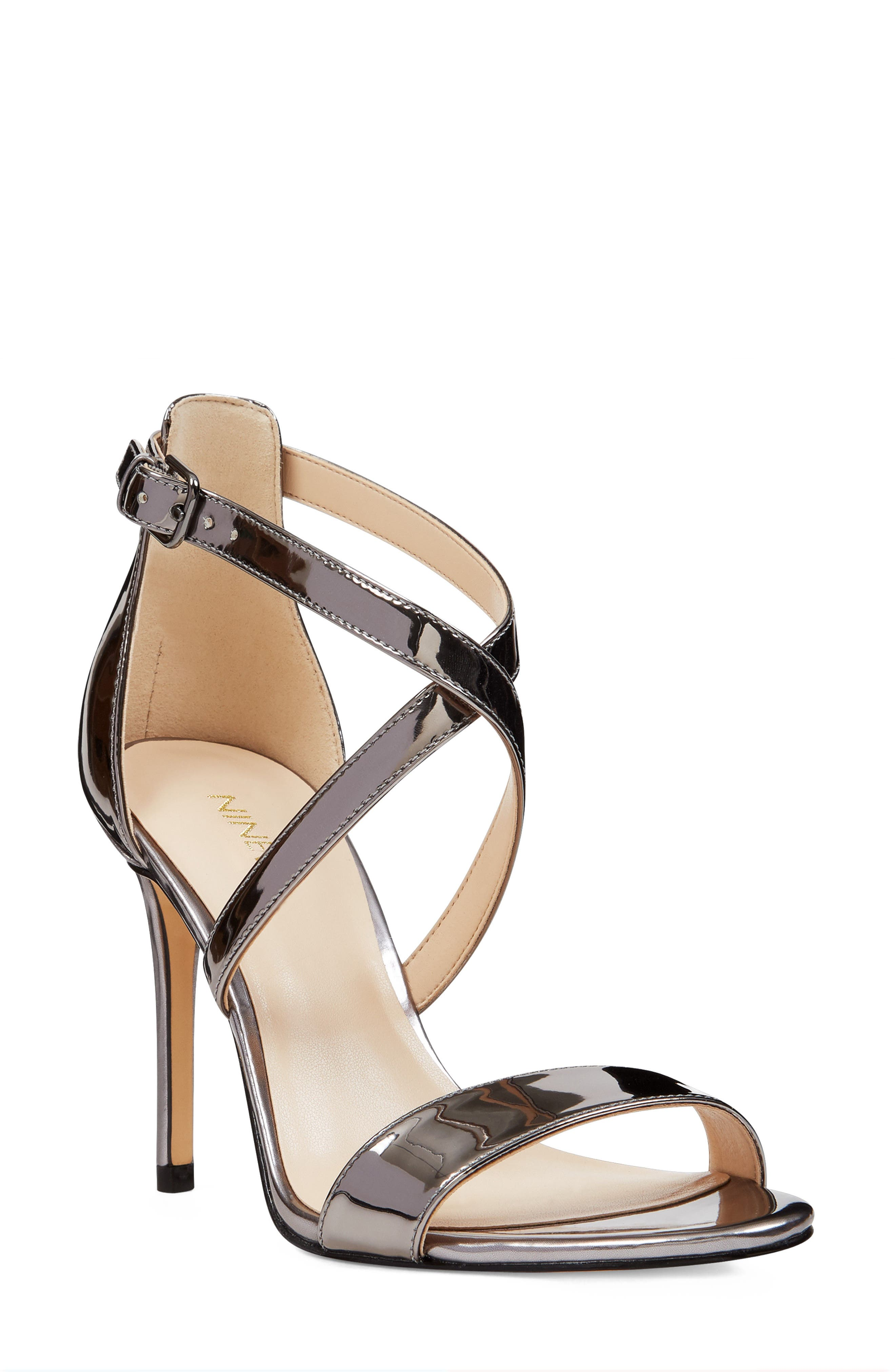 NINE WEST,                             Mydebut Cross Strap Sandal,                             Main thumbnail 1, color,                             040