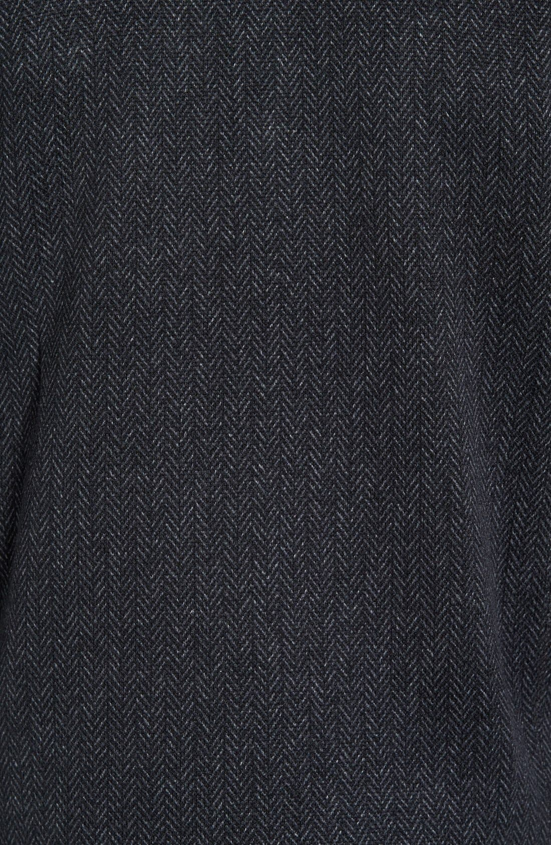 Lance Herringbone Zip Mock Neck Sweater,                             Alternate thumbnail 23, color,