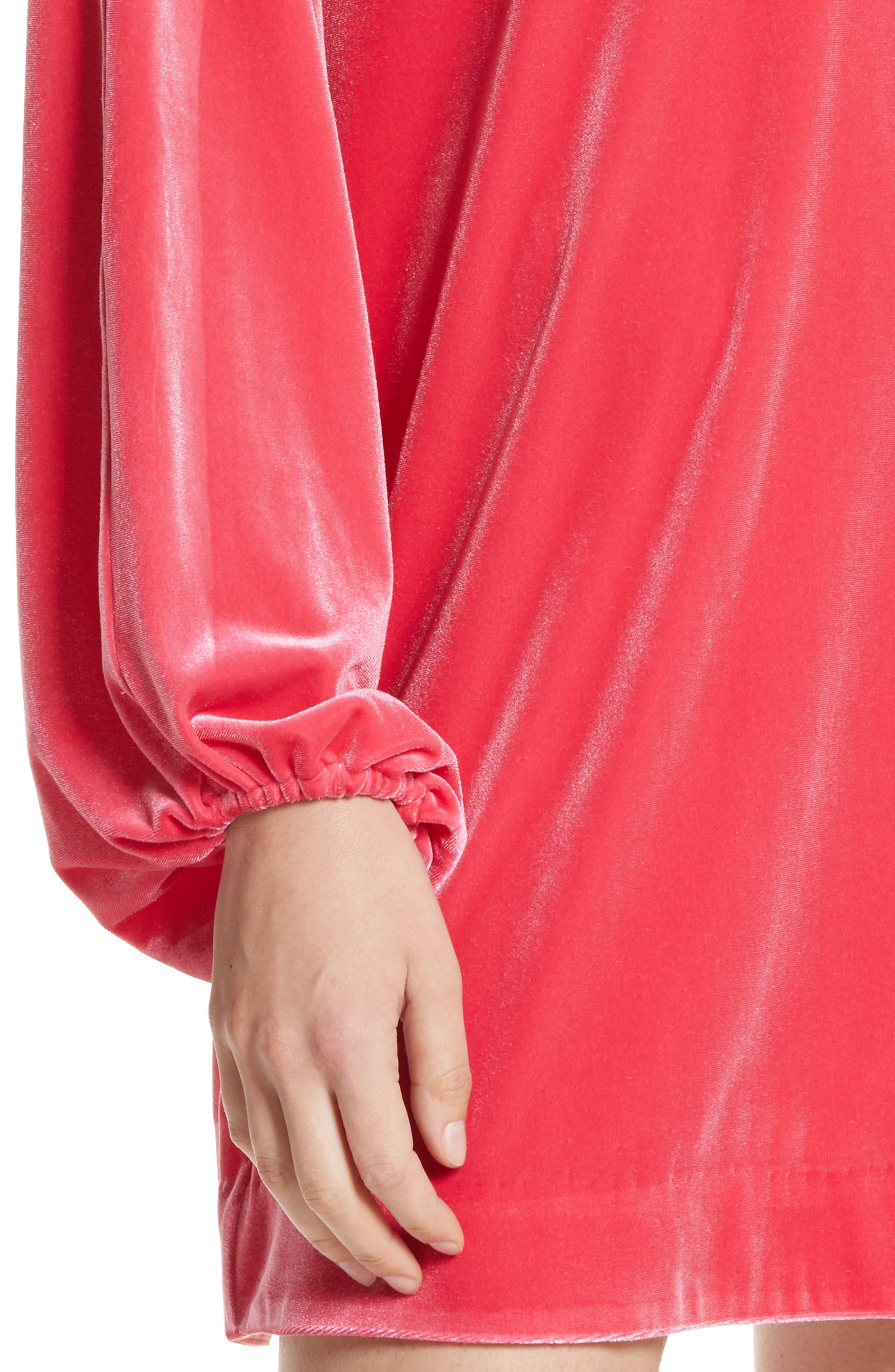 Misha Velvet Minidress,                             Alternate thumbnail 11, color,