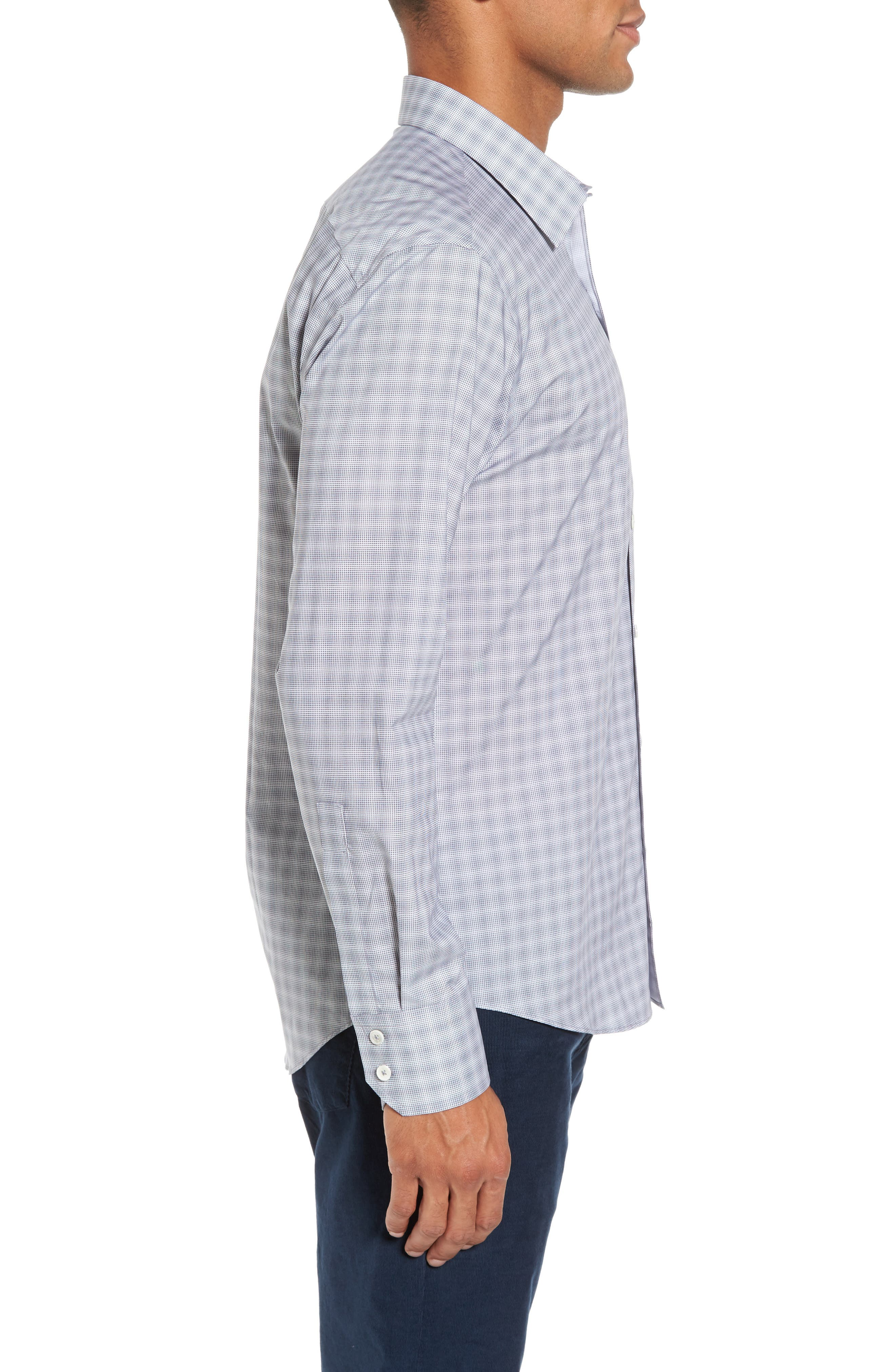 MacDonald Slim Fit Check Sport Shirt,                             Alternate thumbnail 3, color,                             050