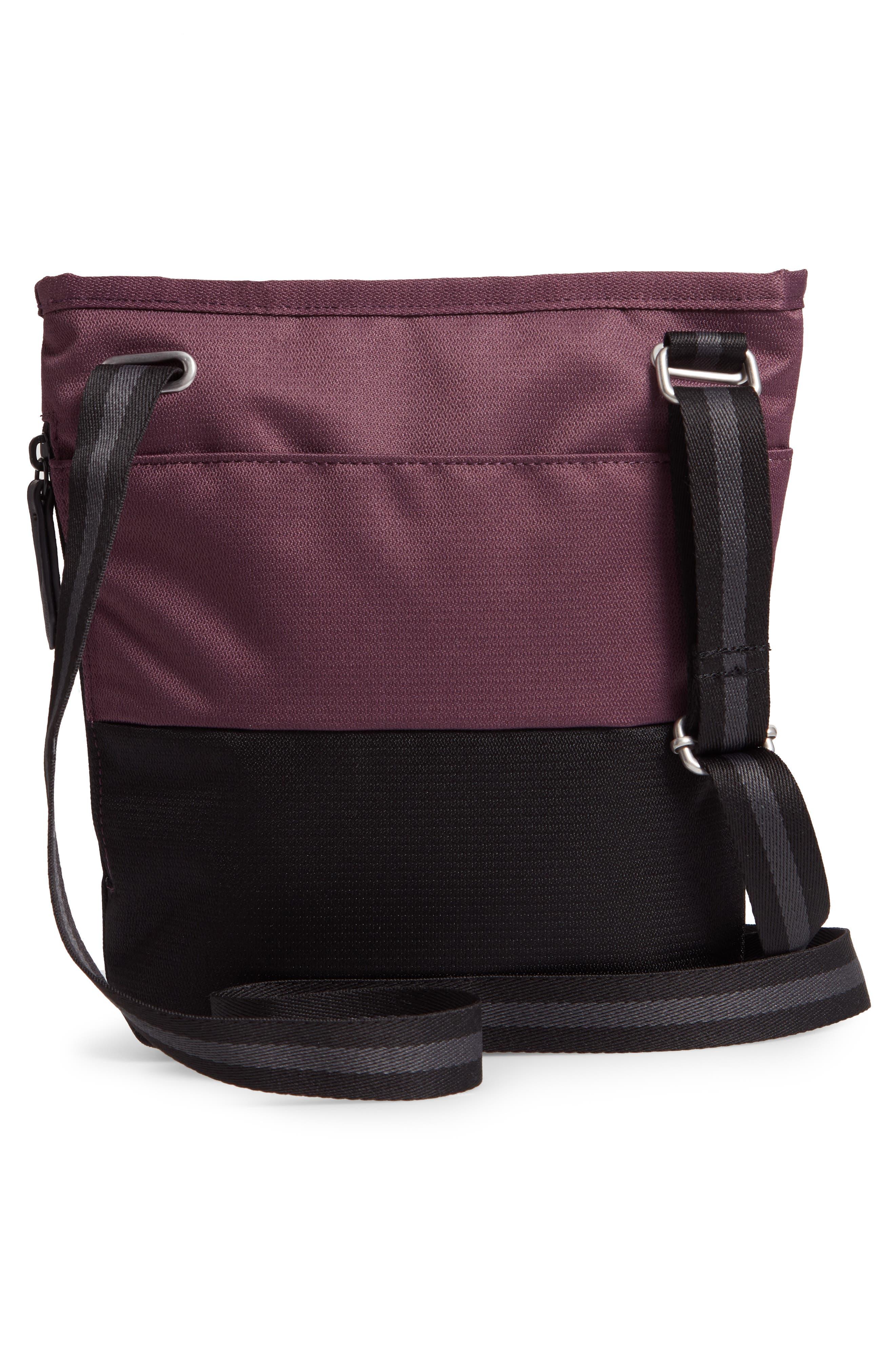 Sadie Medium RFID Crossbody Bag,                             Alternate thumbnail 3, color,                             PURPLE DAHLIA/ BLACK