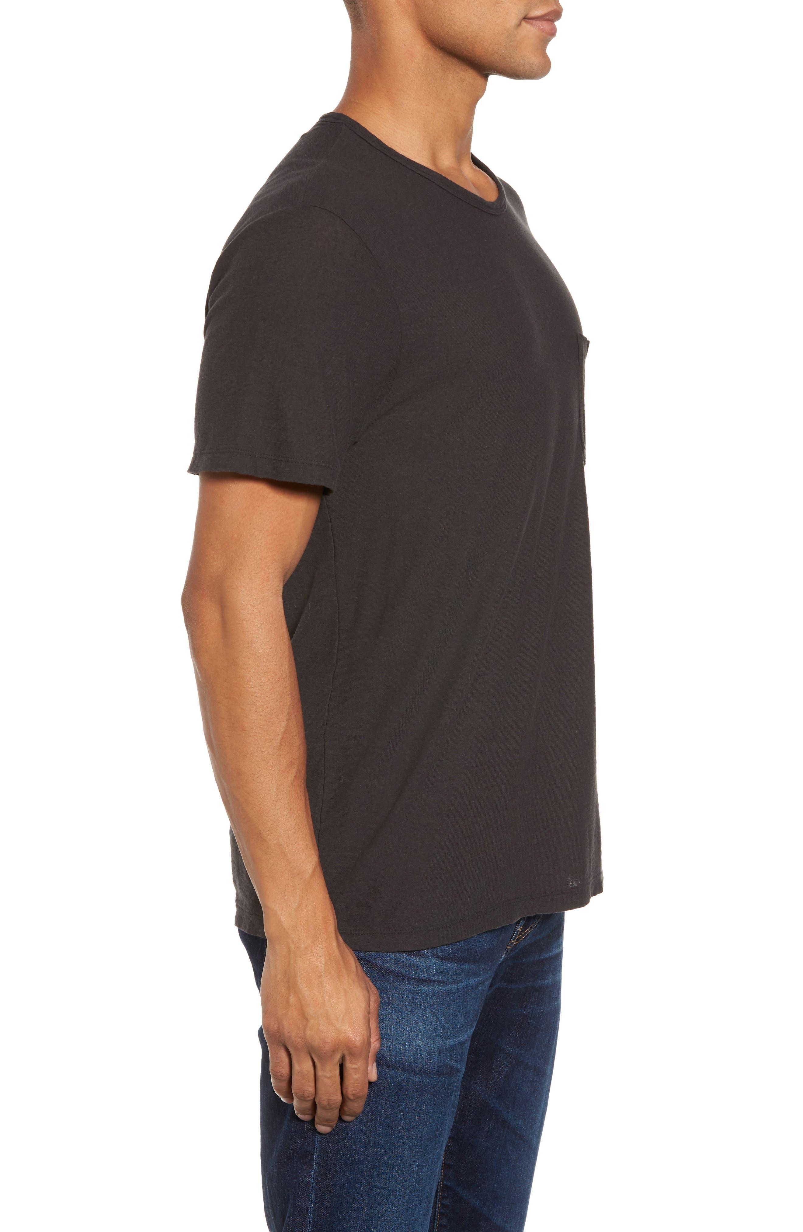 Cotton & Linen Pocket T-Shirt,                             Alternate thumbnail 3, color,                             020