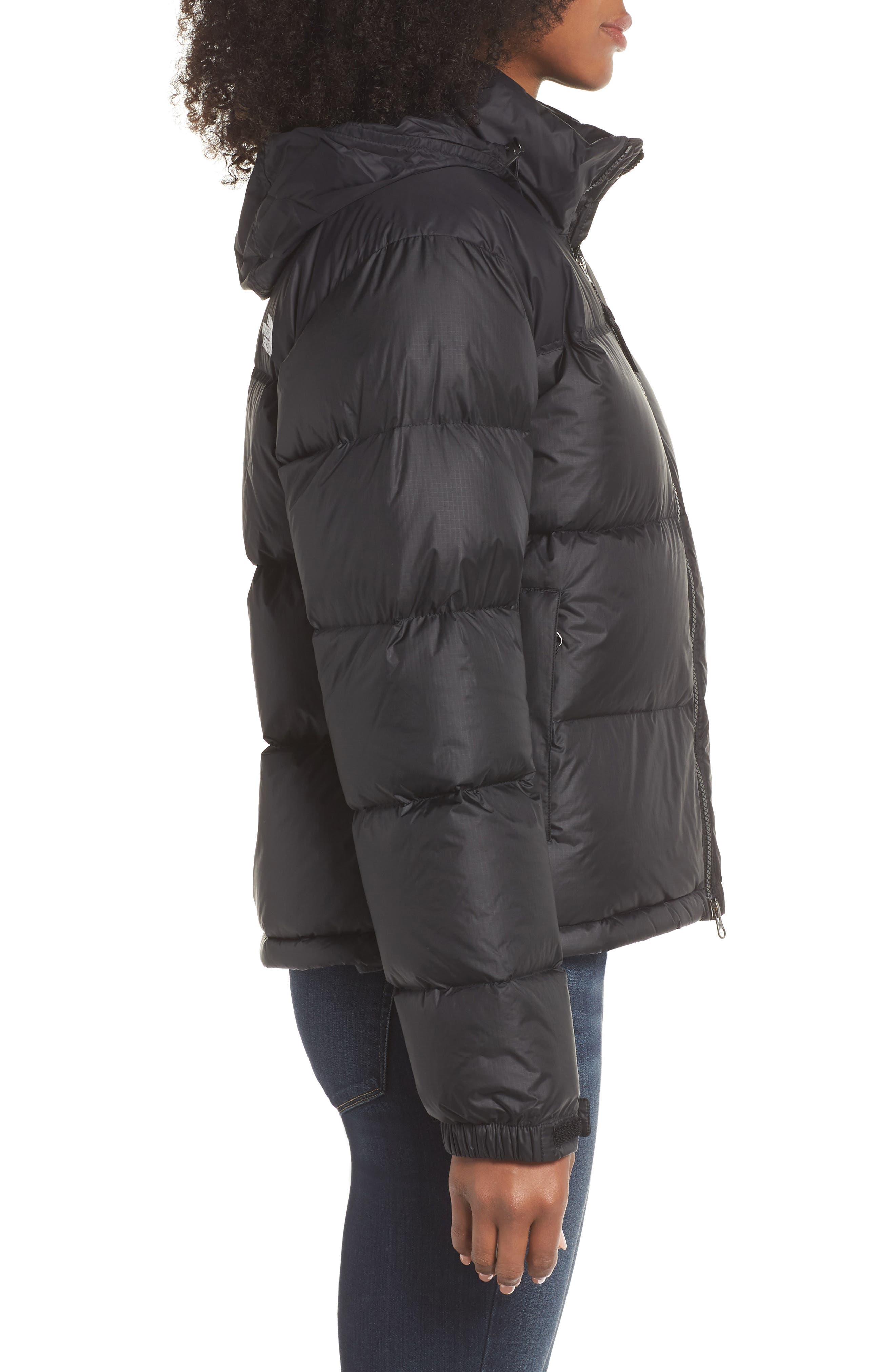 Nuptse 1996 Packable Quilted Down Jacket,                             Alternate thumbnail 3, color,                             TNF BLACK