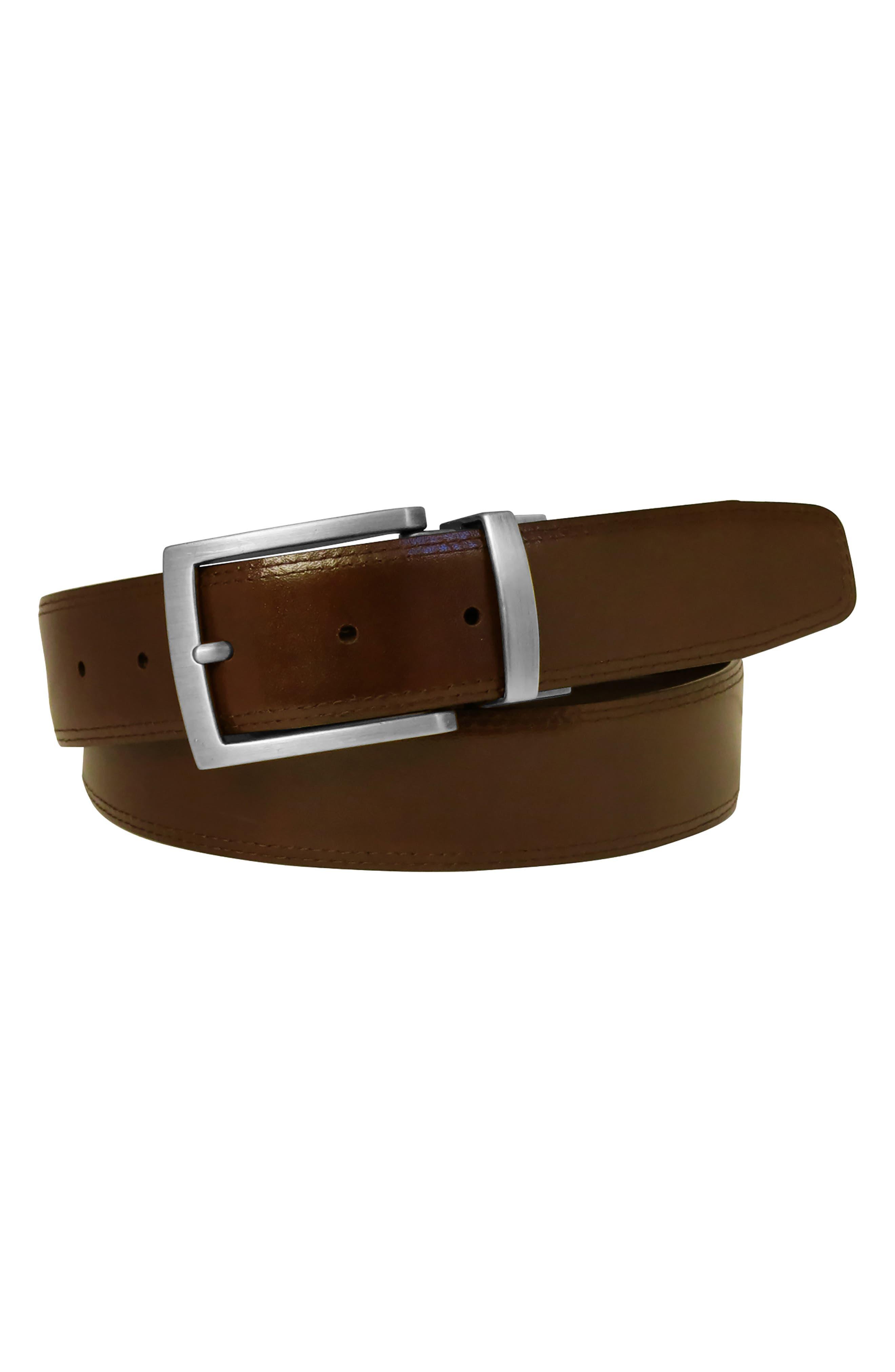 Reversible Leather Belt,                             Alternate thumbnail 6, color,                             BLACK/ BROWN