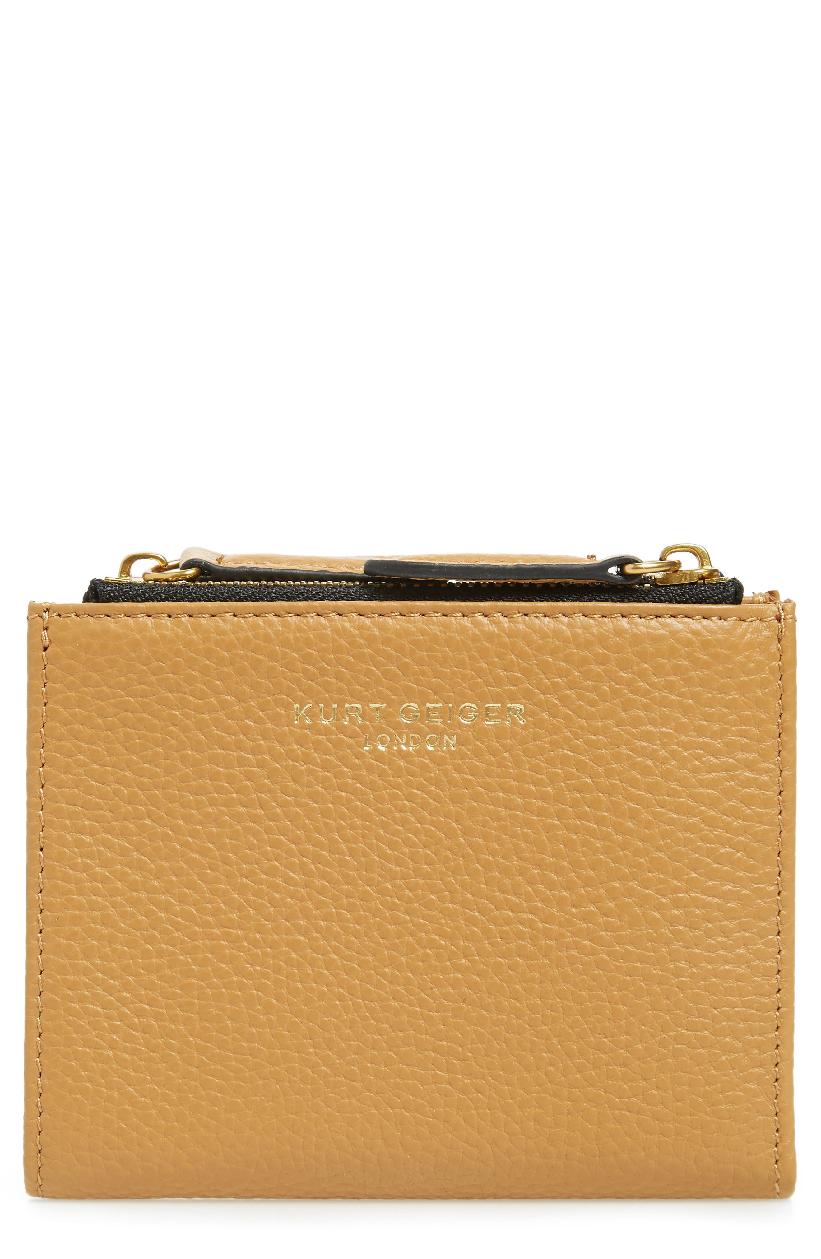 E Leather Wallet,                         Main,                         color, CAMEL