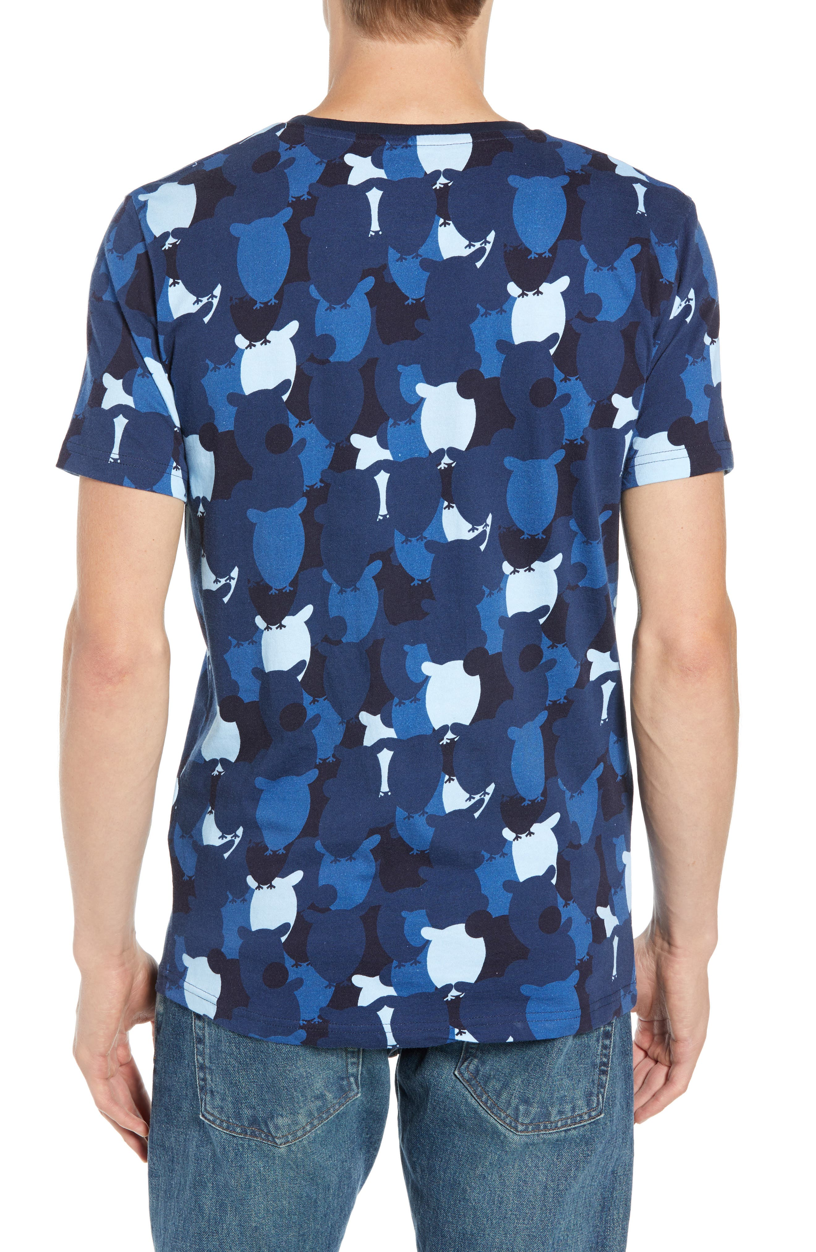 Allover Owl Print T-Shirt,                             Alternate thumbnail 2, color,                             SKYWAY