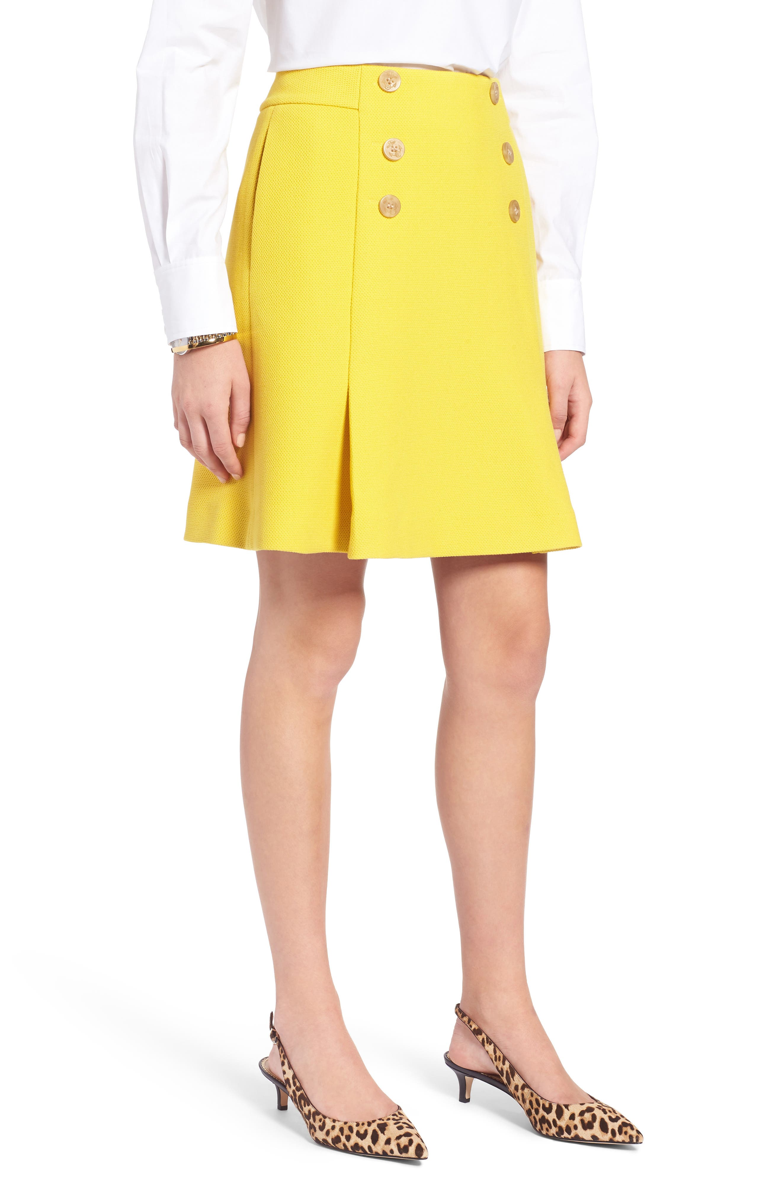 petite skirt sailor yellow
