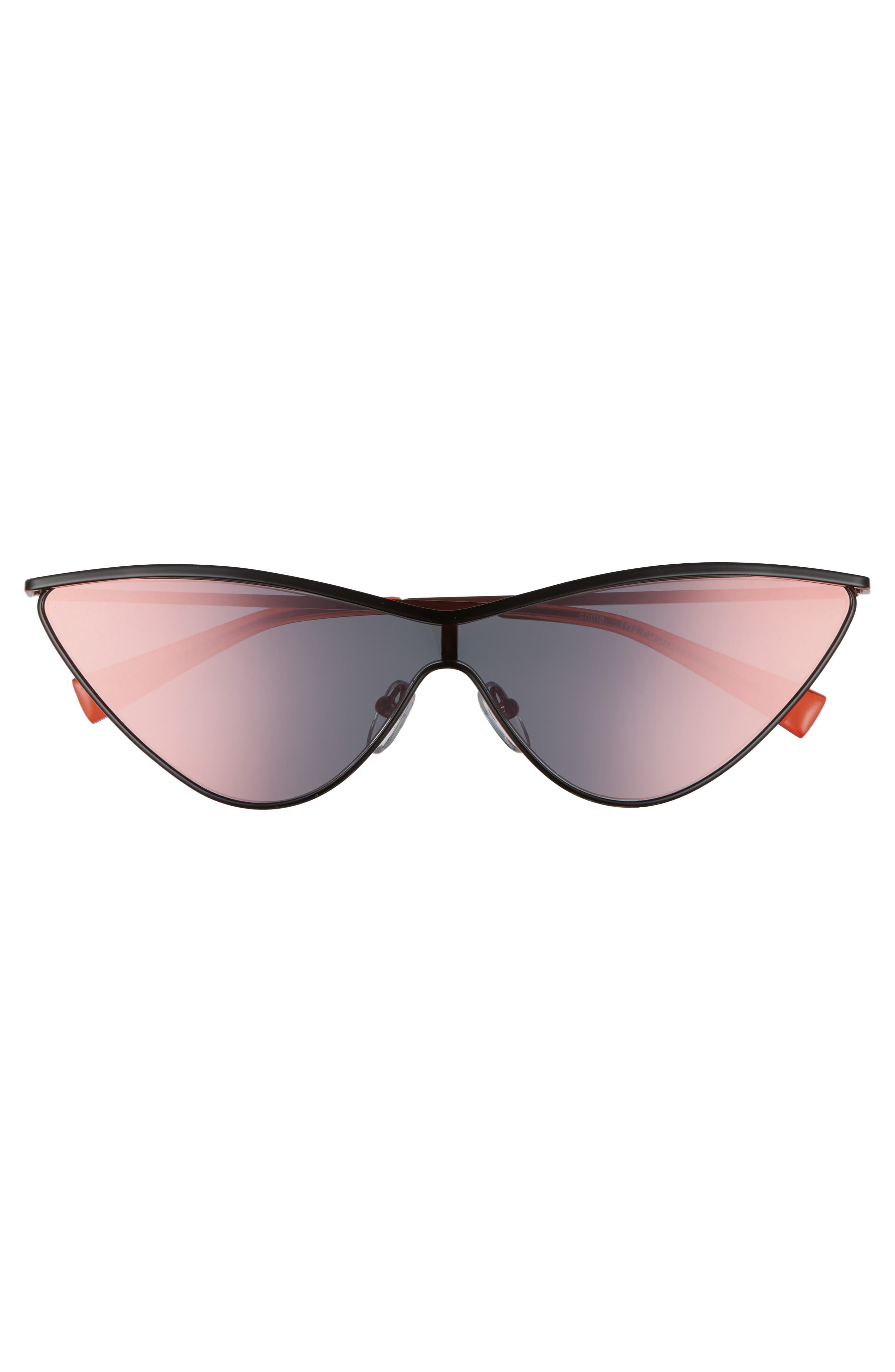 The Fugitive 71mm Sunglasses,                             Alternate thumbnail 5, color,                             BLACK/ RED