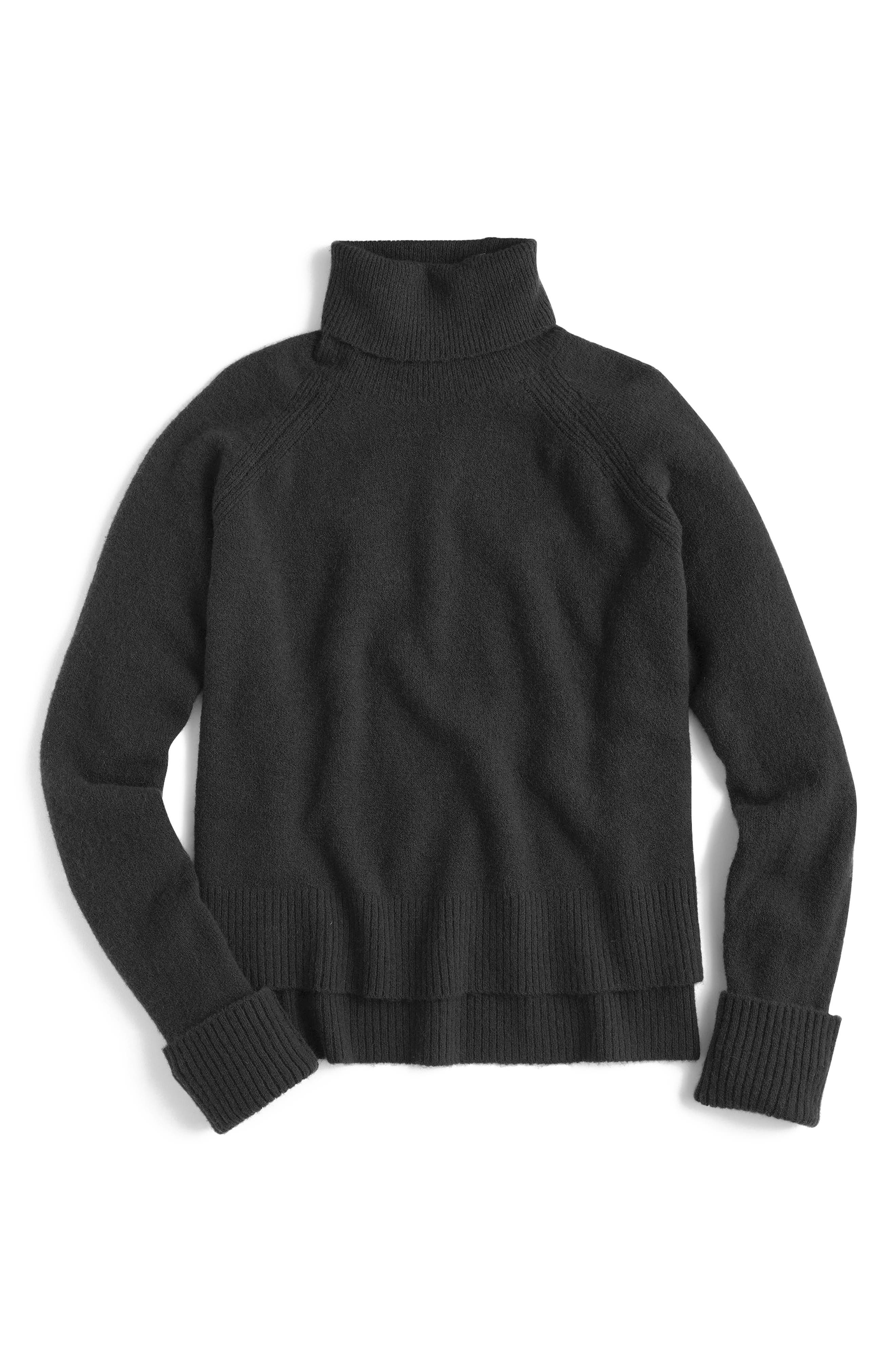 Side Slit Supersoft Turtleneck Sweater,                             Main thumbnail 1, color,