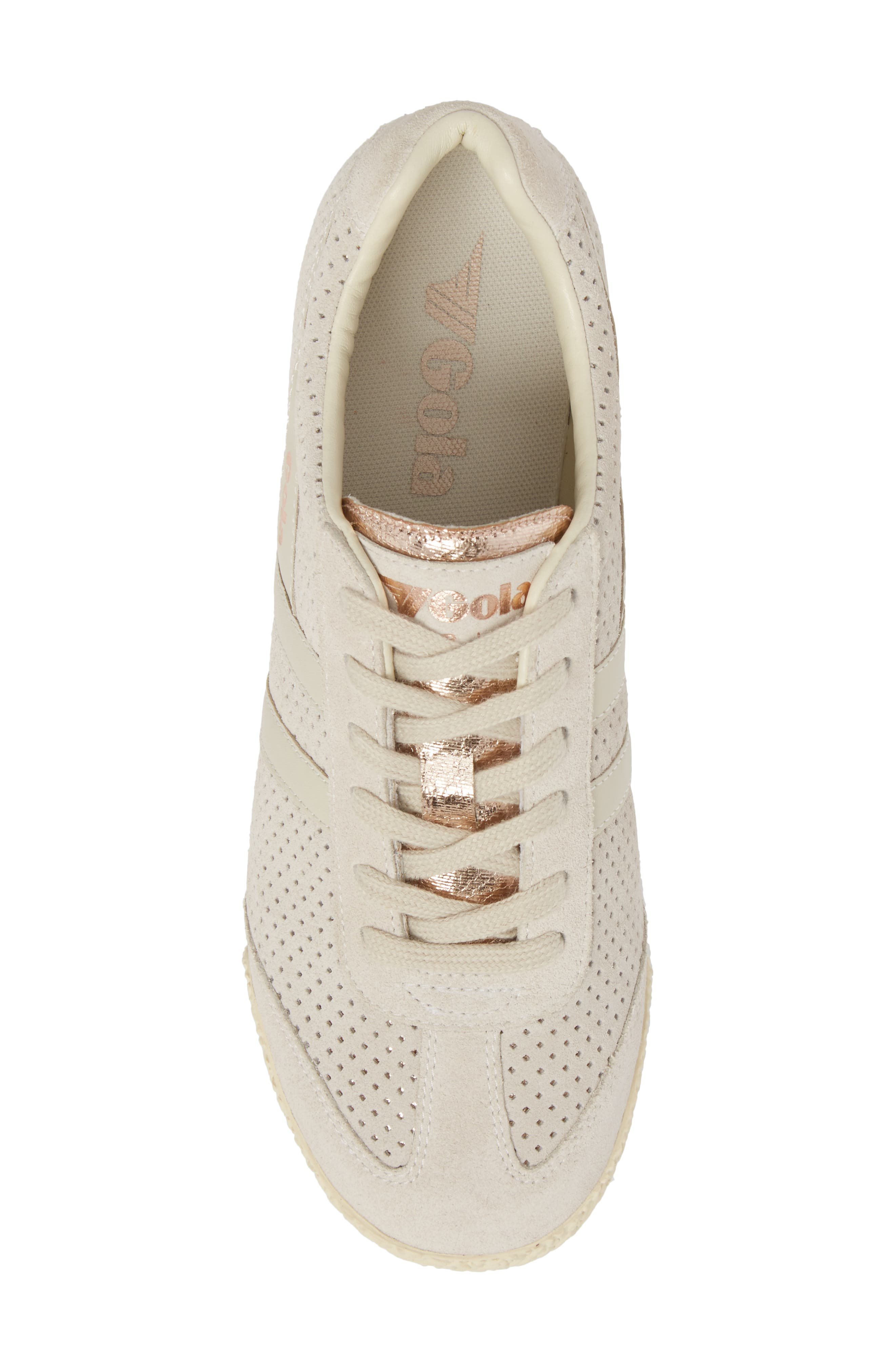 Harrier Glimmer Suede Low Top Sneaker,                             Alternate thumbnail 5, color,                             WINDCHIME/ GOLD/ OFF WHITE