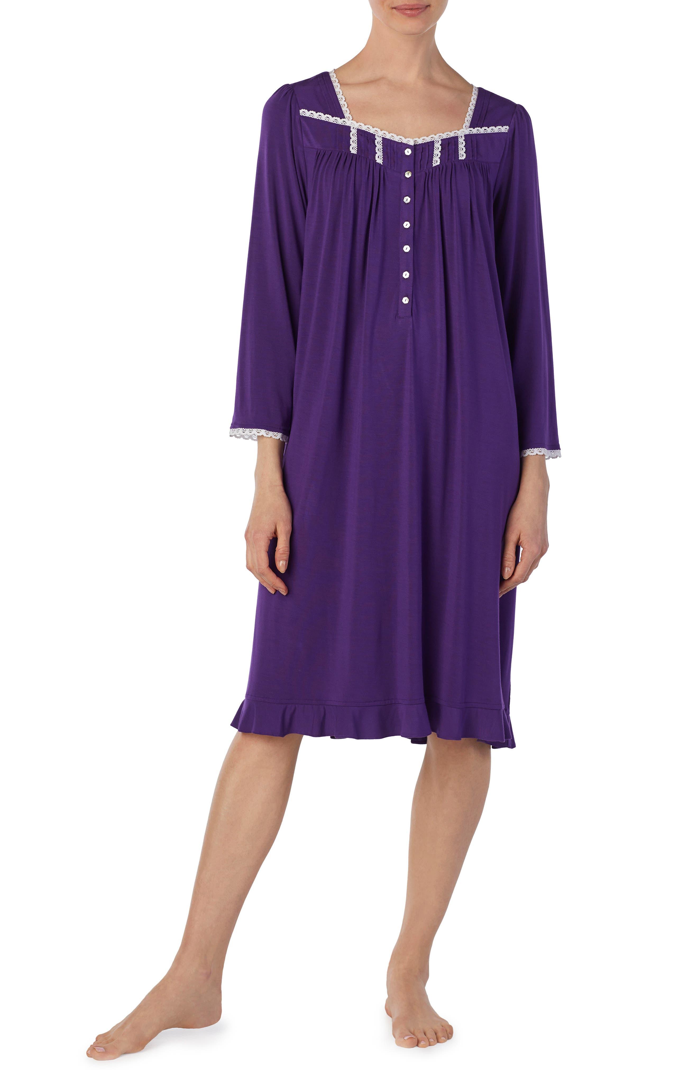 Eileen West Jersey Waltz Nightgown, Purple