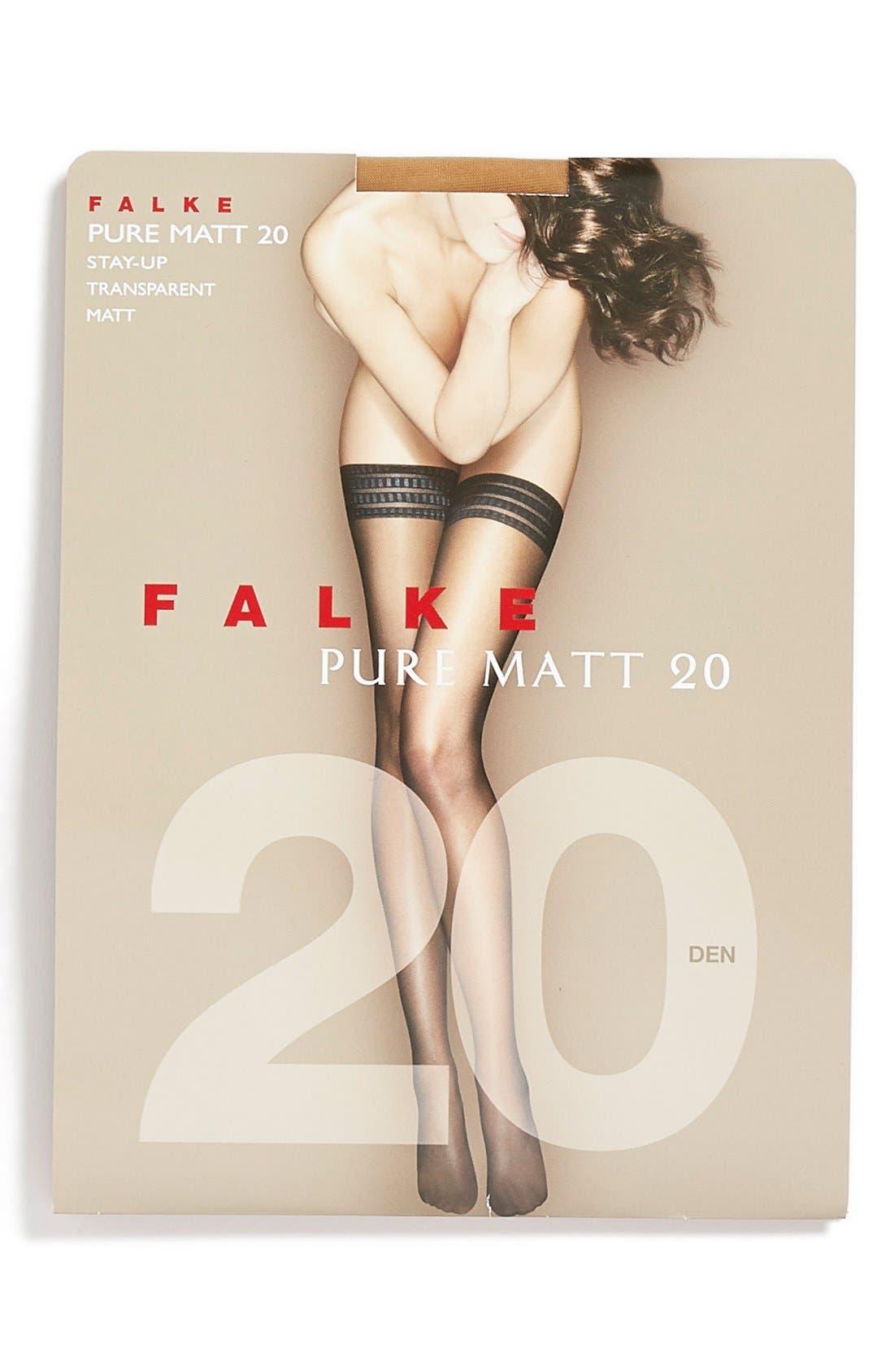 'Pure Matt 20' Stay-Up Stockings,                             Alternate thumbnail 12, color,