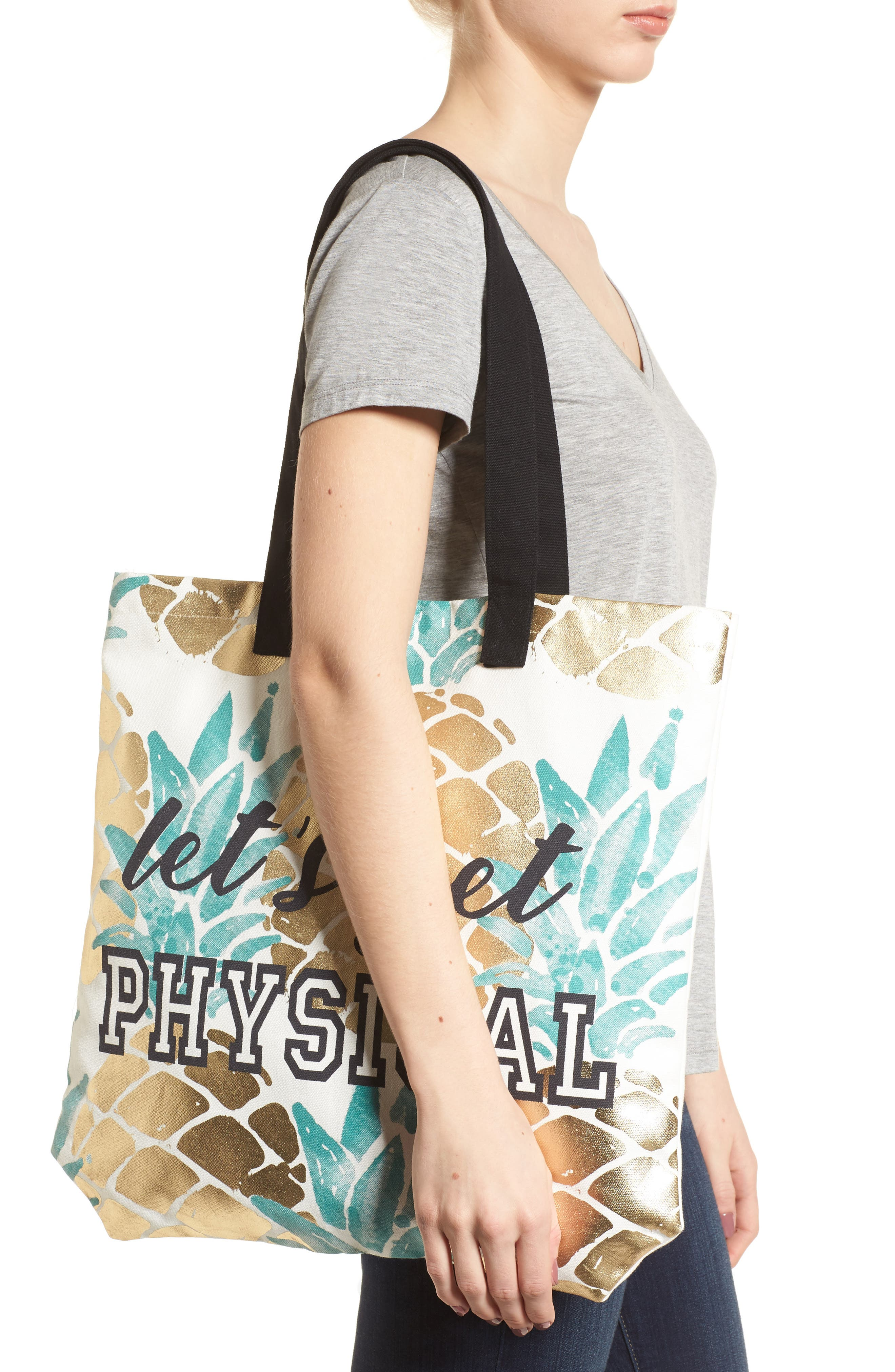 Let's Get Physical Tote,                             Alternate thumbnail 2, color,                             710