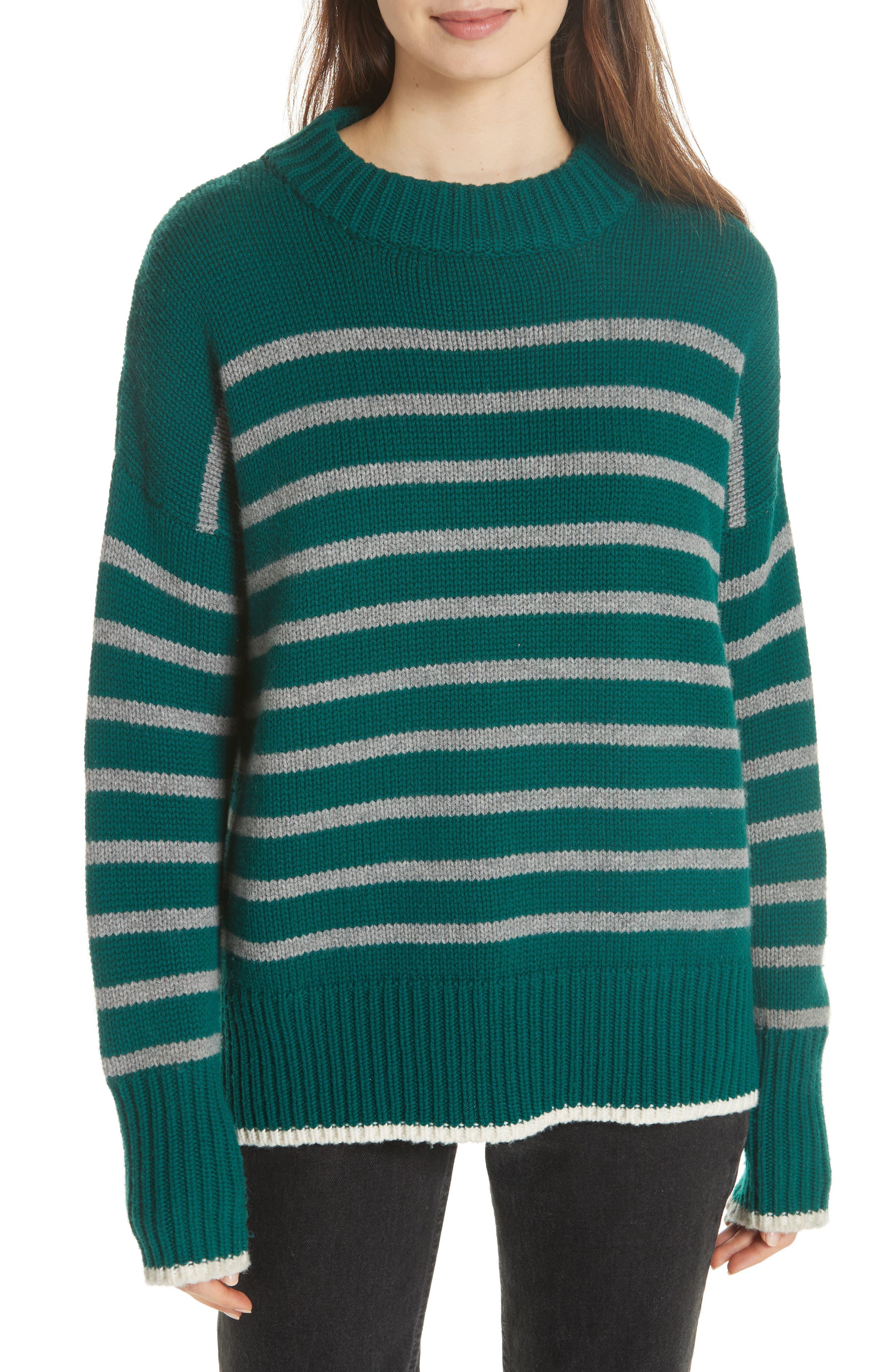 La Ligne Marin Wool & Cashmere Sweater, Green
