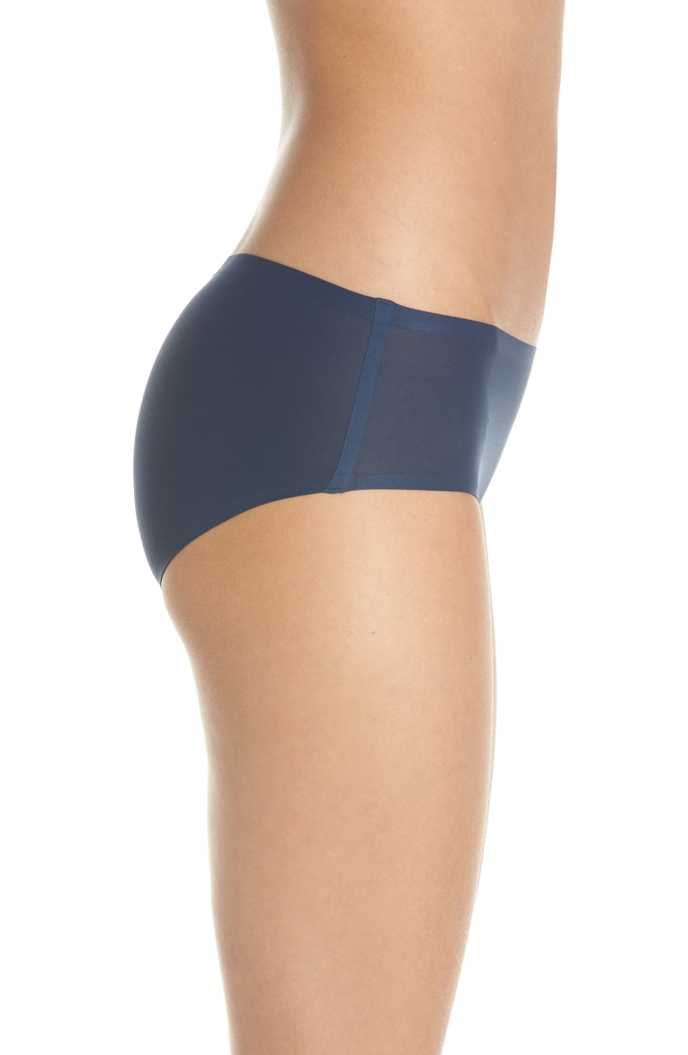 Soft Stretch Seamless Hipster Panties,                             Alternate thumbnail 3, color,                             DEEP BLUE
