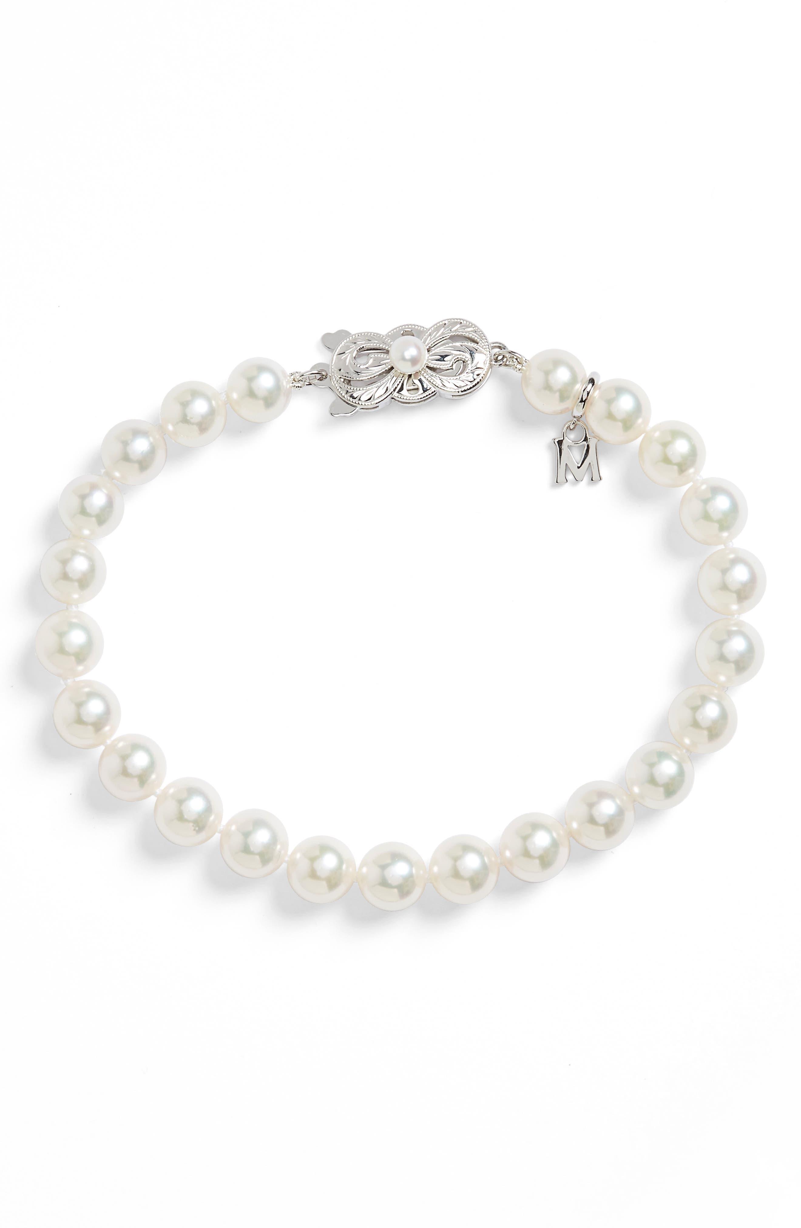 Pearl Bracelet,                             Alternate thumbnail 2, color,                             AKOYA PEARL