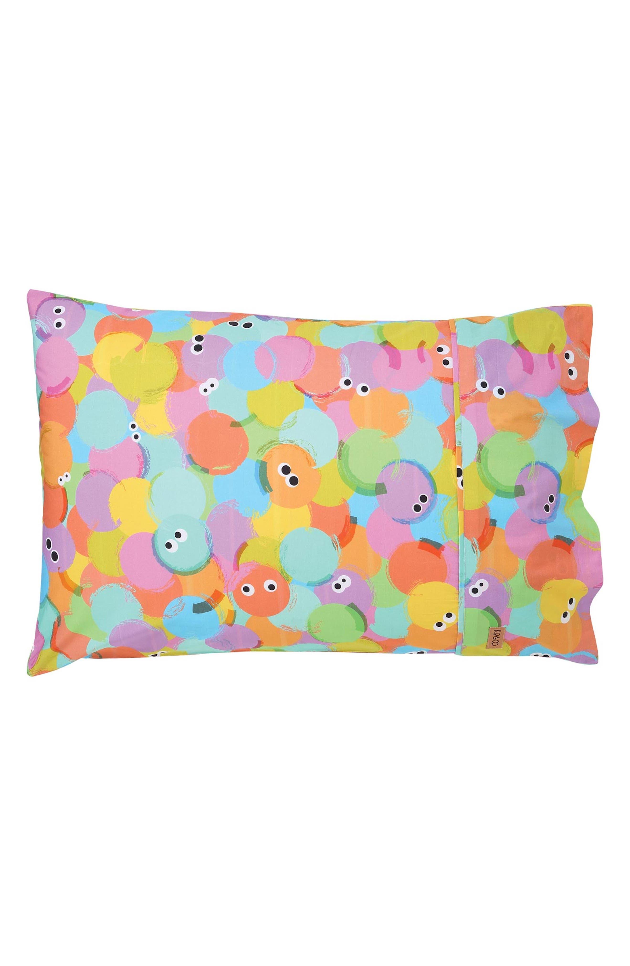 Hello World Cotton Pillowcase,                             Main thumbnail 1, color,                             MULTI