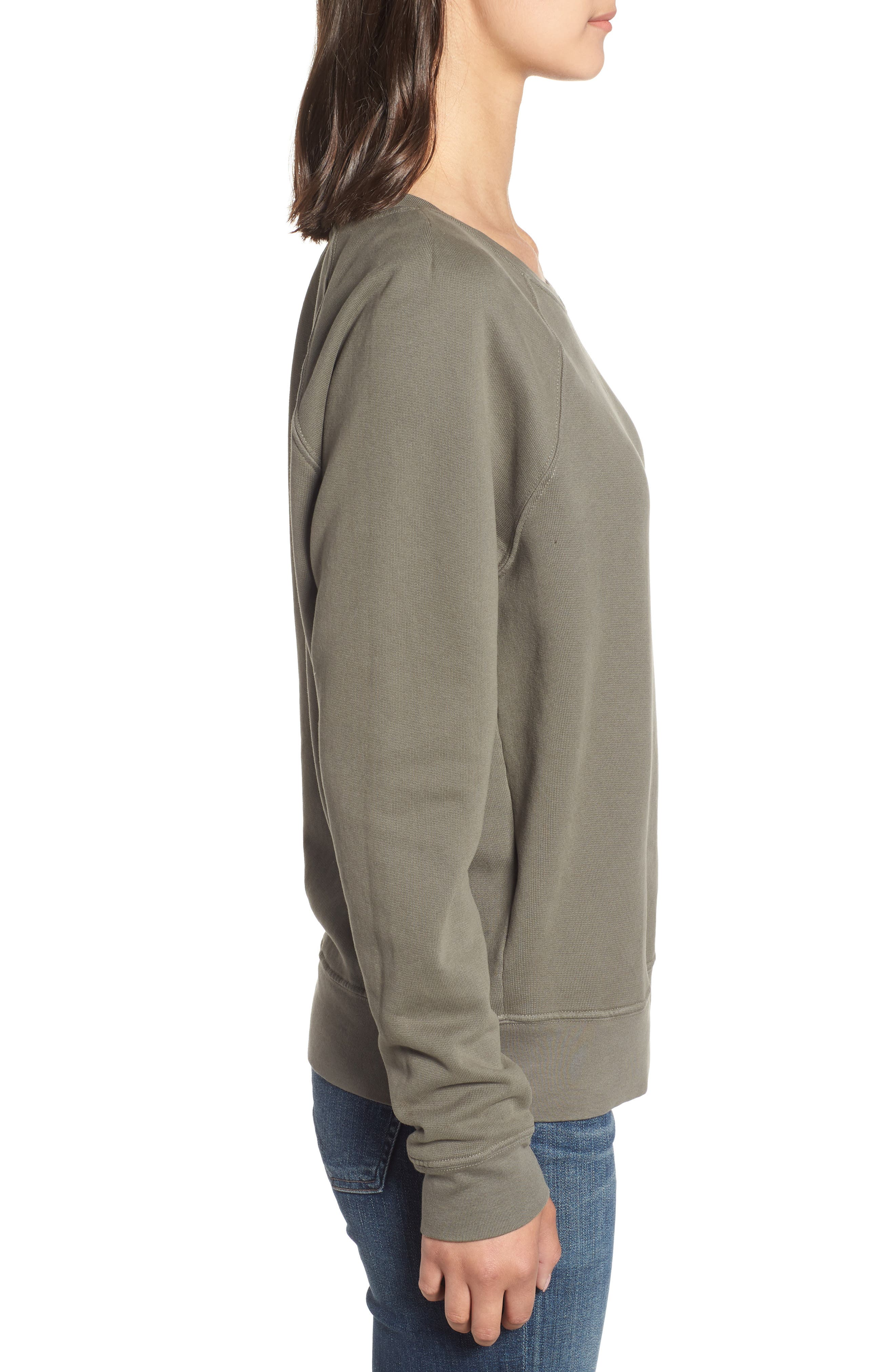 French Terry Sweatshirt,                             Alternate thumbnail 3, color,                             300