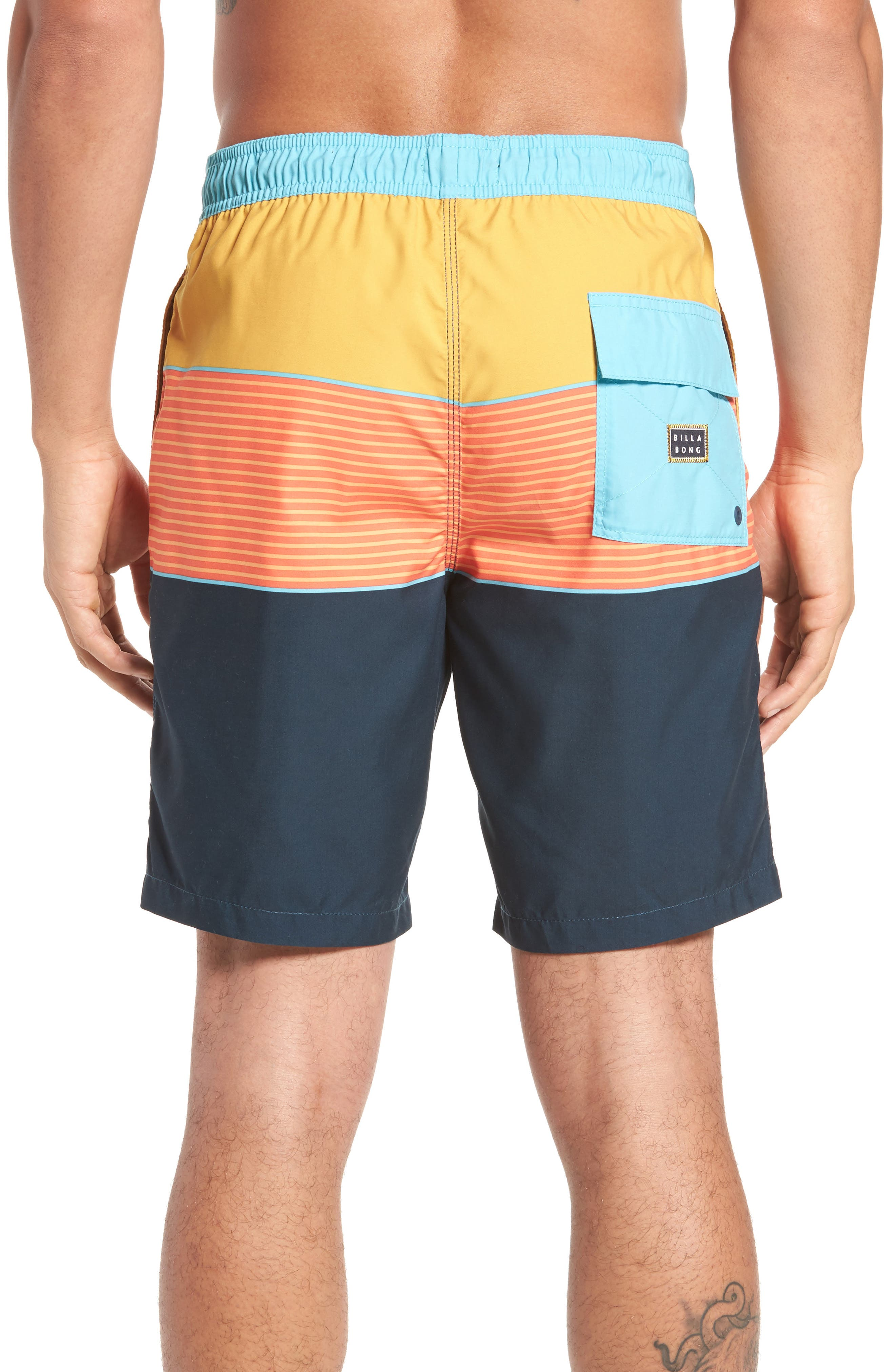 Tribong Layback Board Shorts,                             Alternate thumbnail 4, color,
