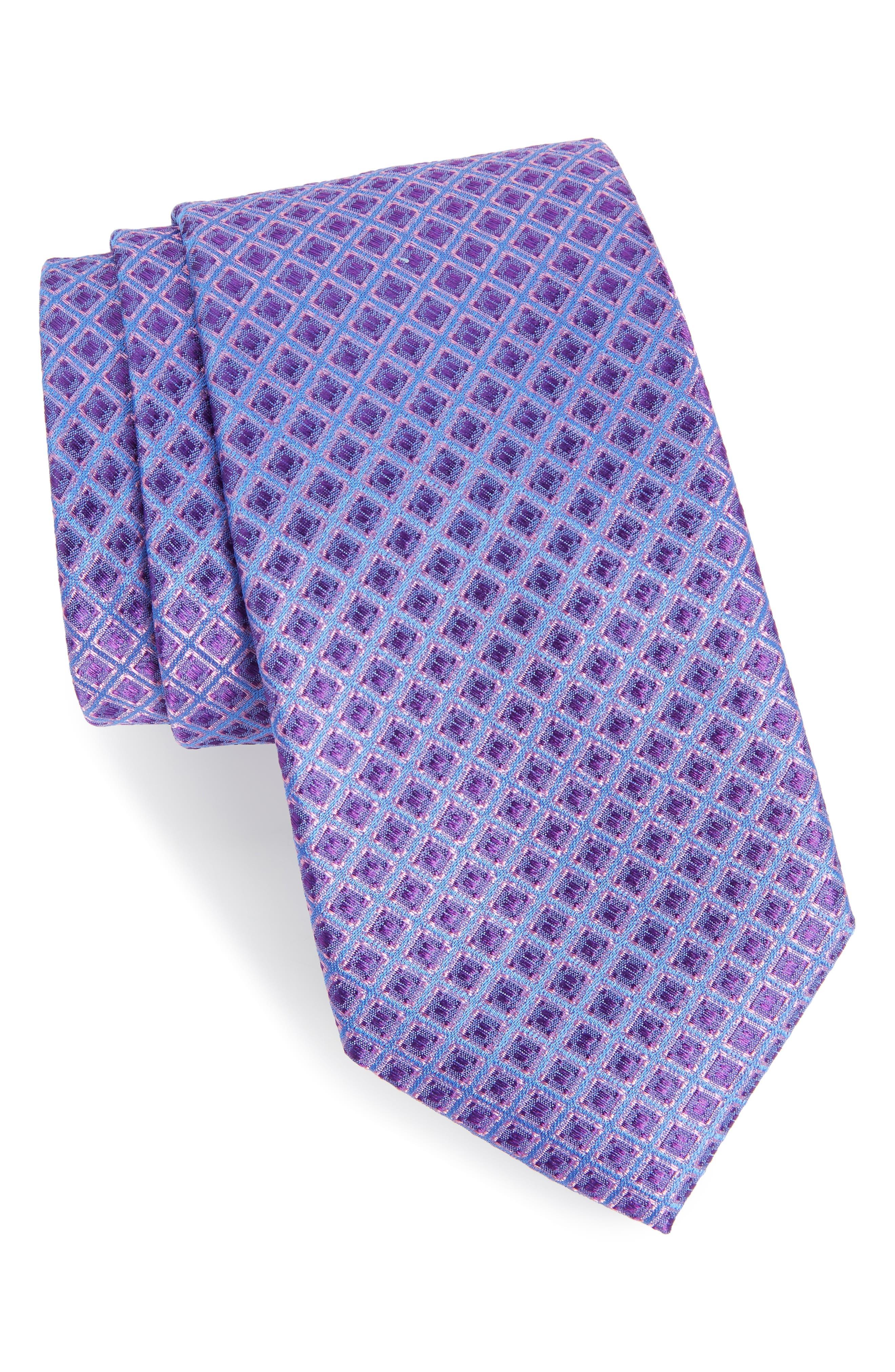 Denberg Check Silk Tie,                             Main thumbnail 3, color,