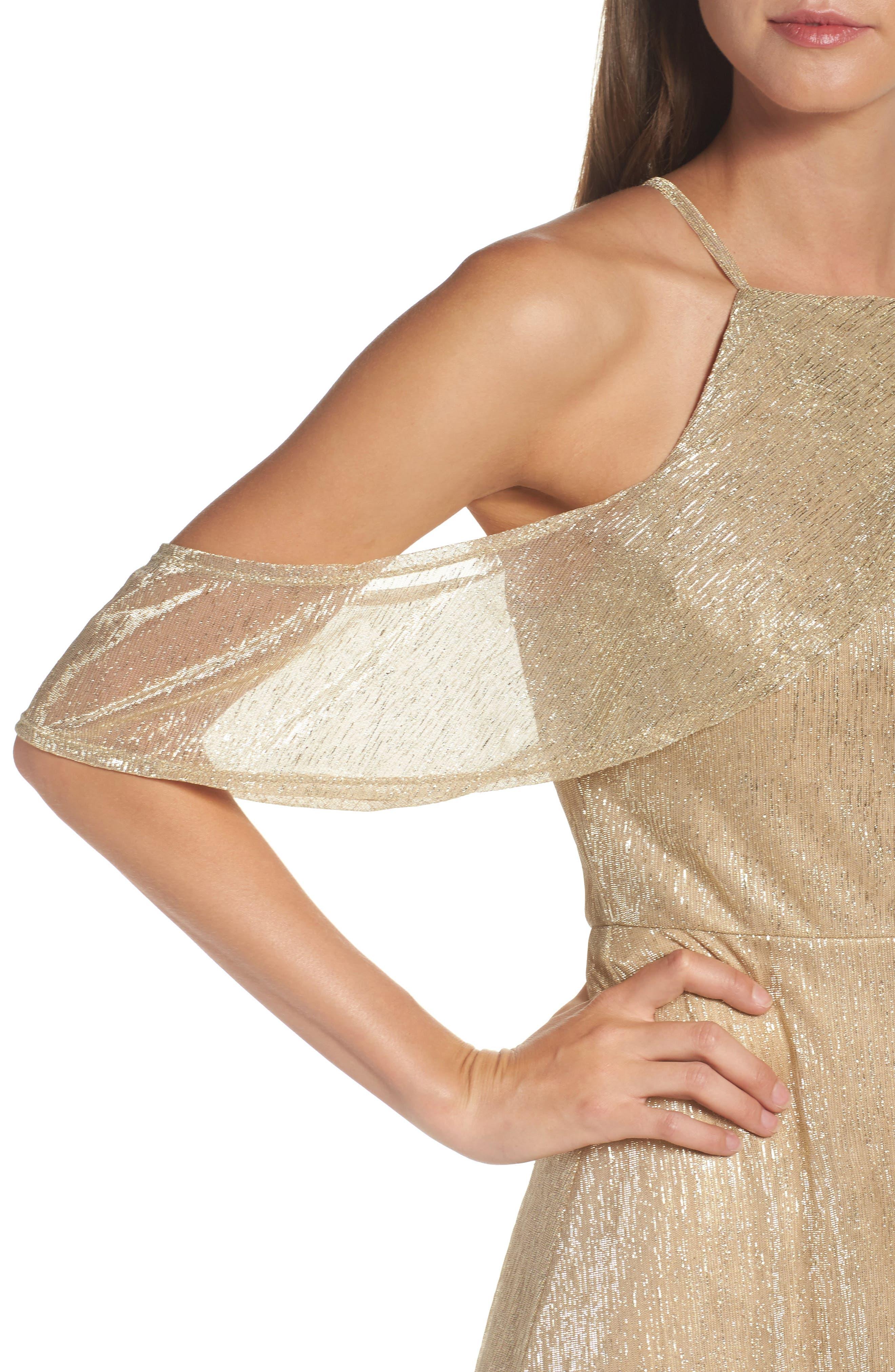 Cold Shoulder Gown,                             Alternate thumbnail 4, color,