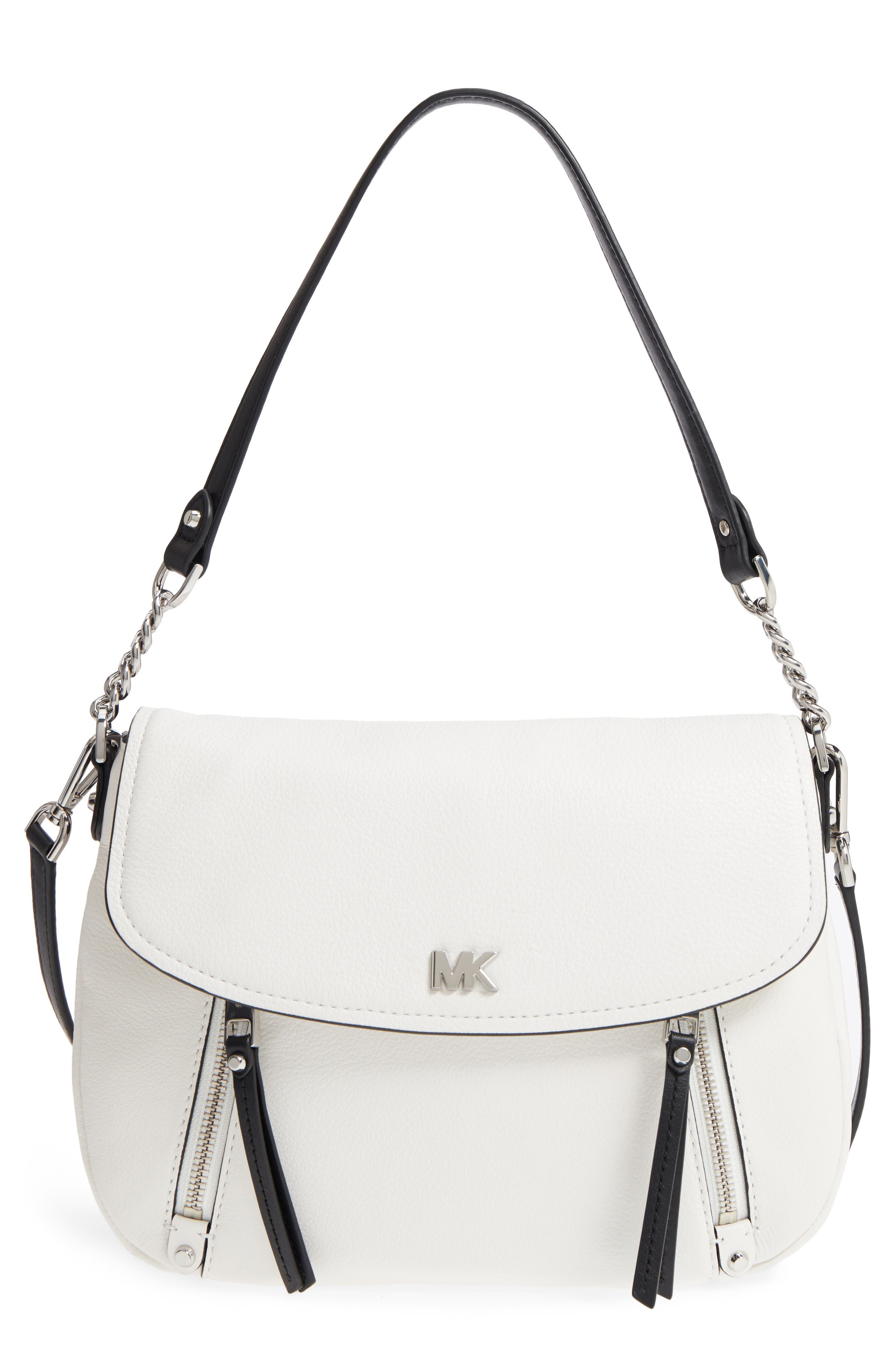 Medium Leather Shoulder Bag,                             Main thumbnail 2, color,