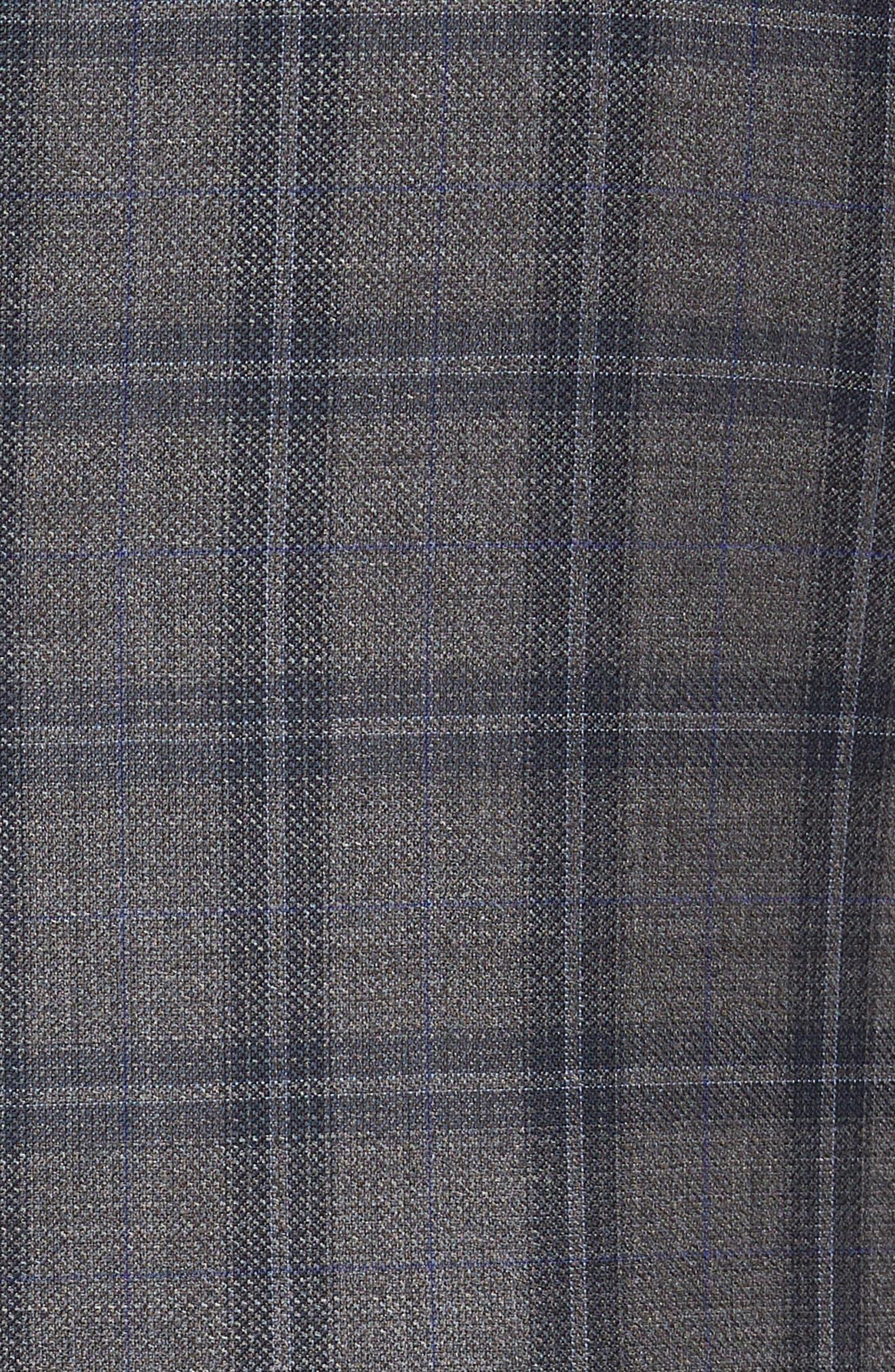 Jay Trim Fit Windowpane Wool Sport Coat,                             Alternate thumbnail 6, color,                             GREY