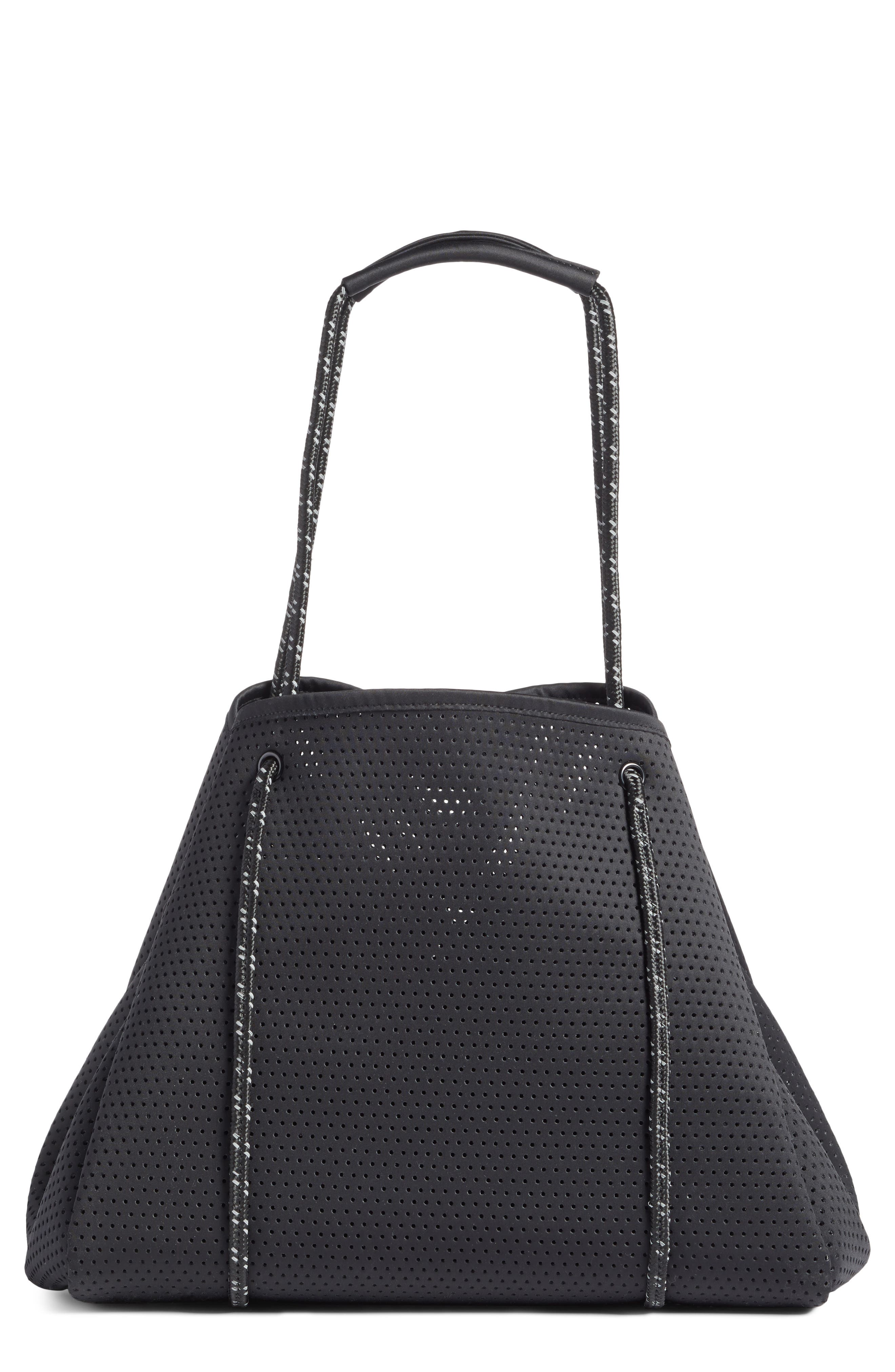 Perforated Tote Bag,                             Main thumbnail 1, color,                             BLACK