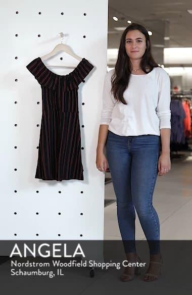 Stripe Frill Bardot Dress, sales video thumbnail