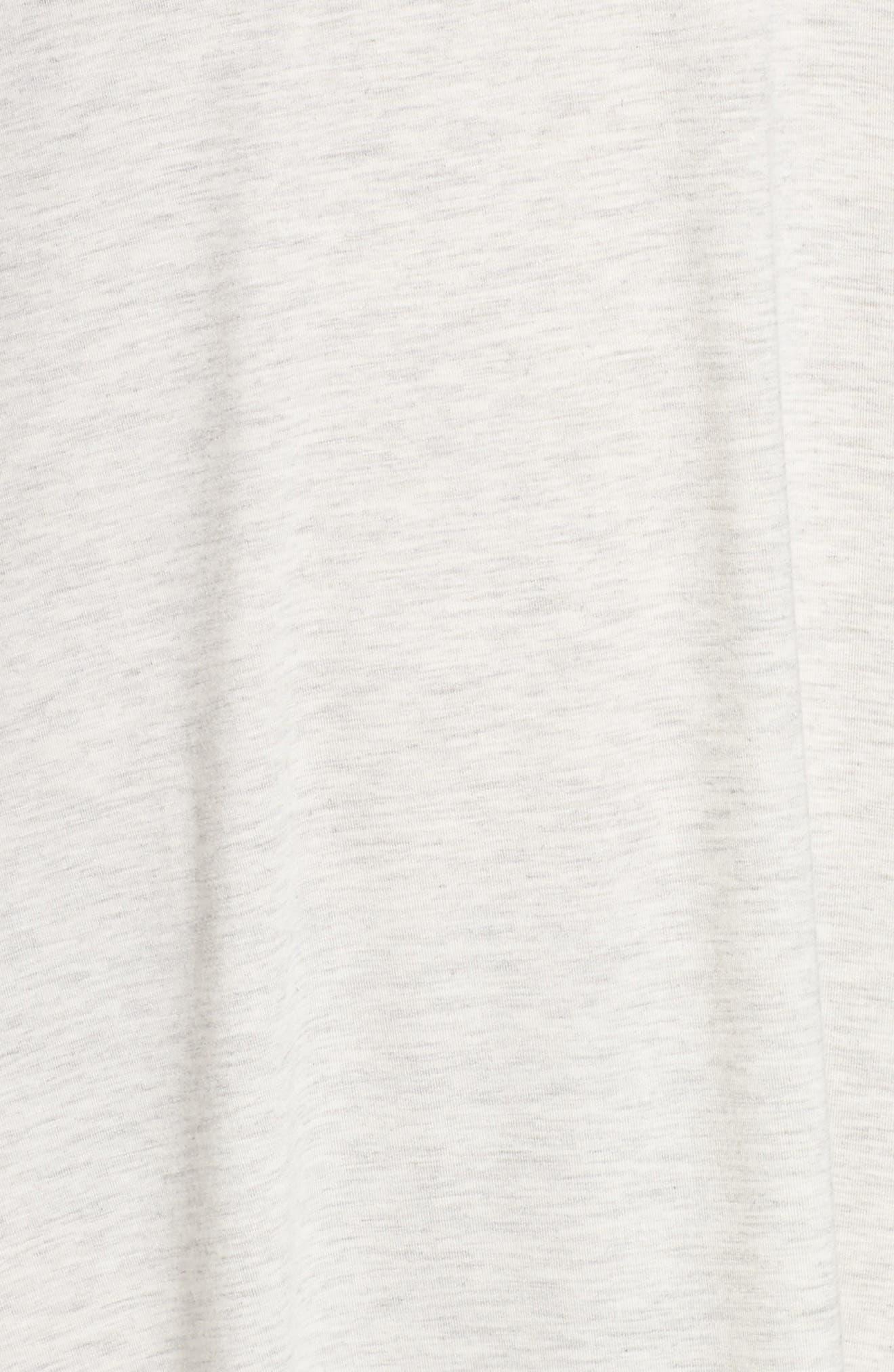 Feathers Sleep Shirt,                             Alternate thumbnail 5, color,                             HEATHERED INK