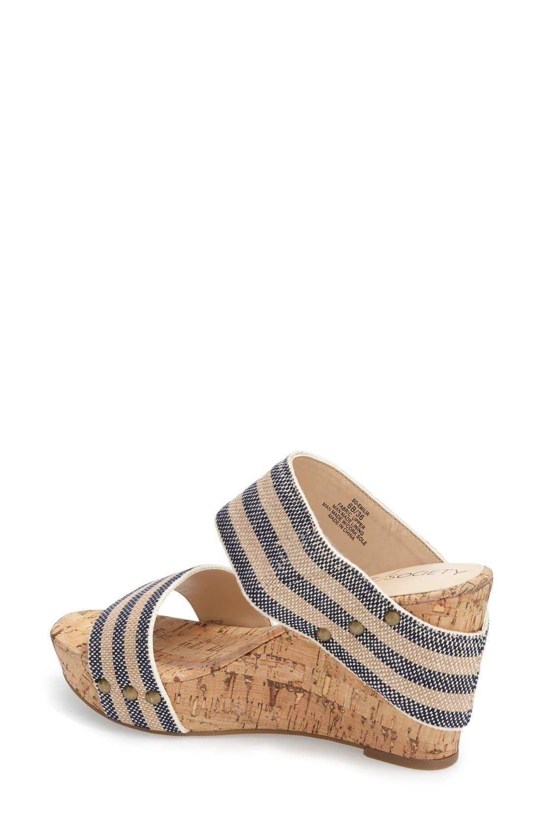 'Emilia 2' Wedge Sandal,                             Alternate thumbnail 5, color,
